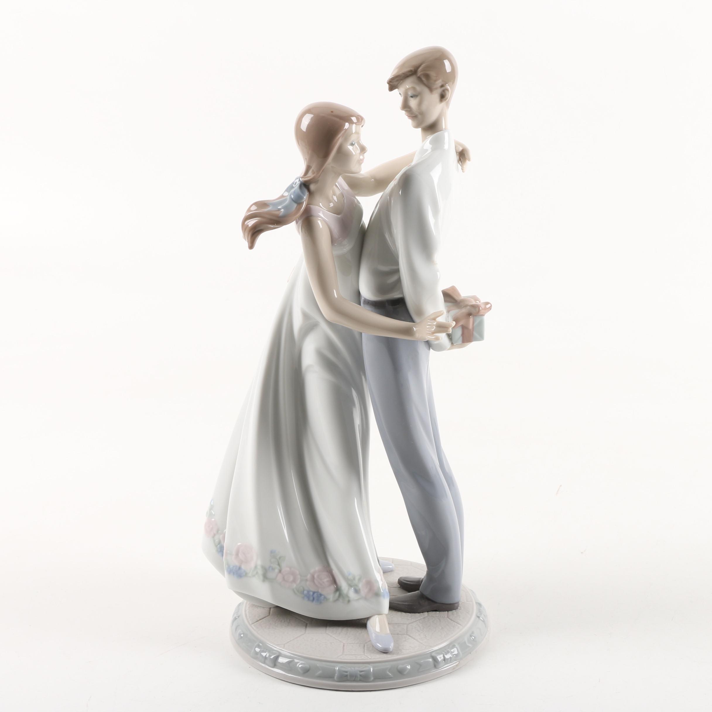 """Lladró """"Love's Little Surprises"""" Hand-Painted Porcelain Figurine"""