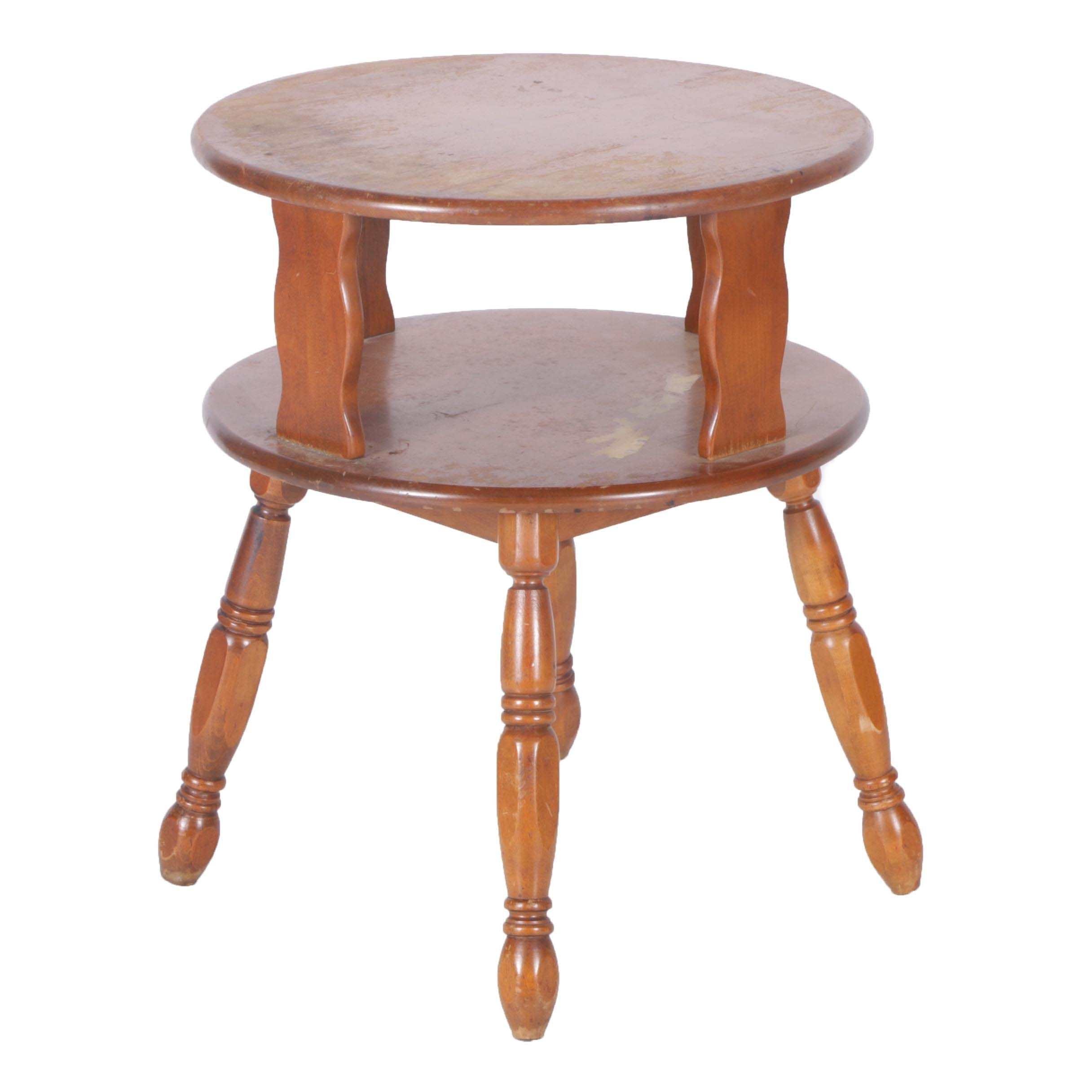 Vintage Colonial Style Maple Accent Table