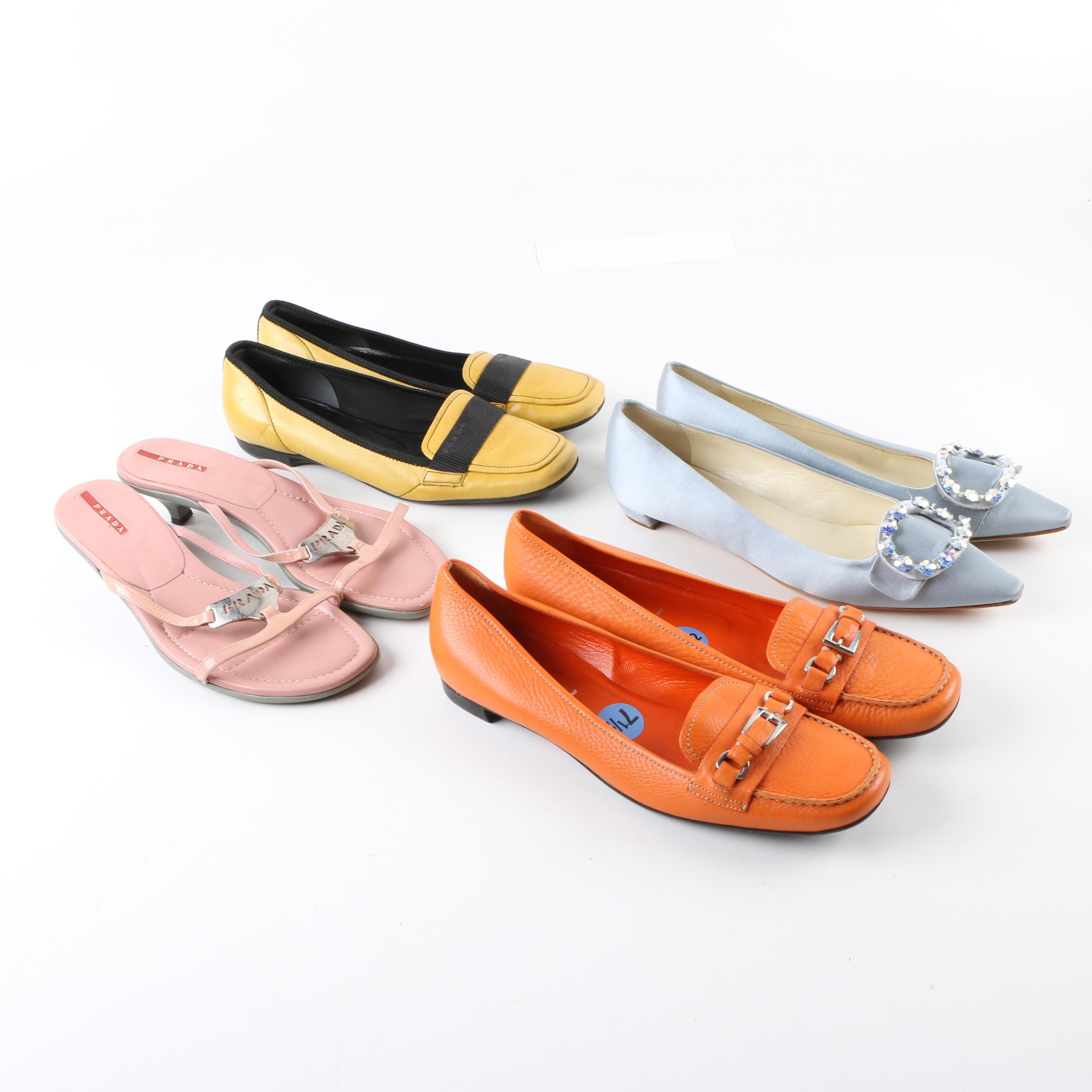 Women's Prada Loafers and Heeled Sandals