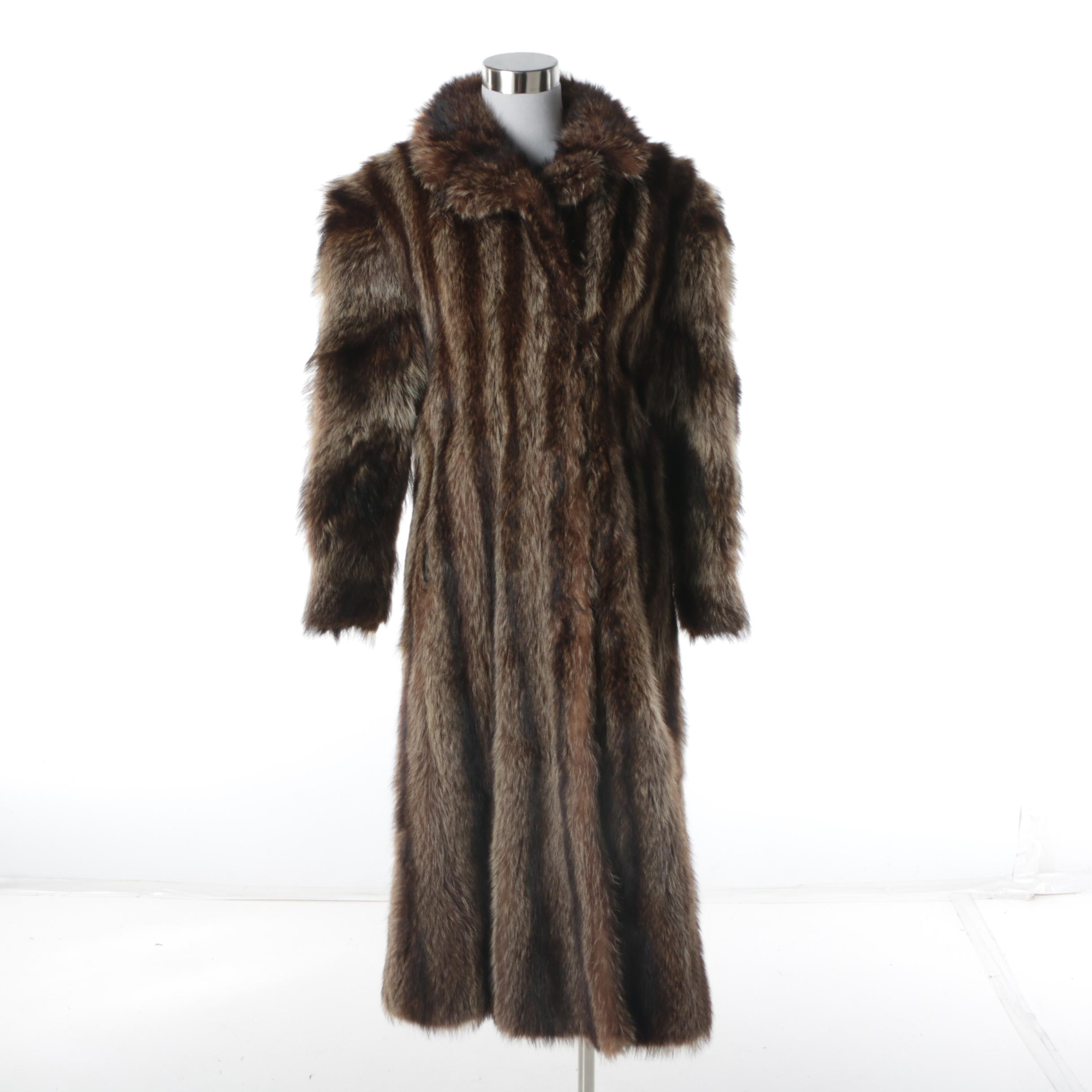 Women's Vintage Thomas E. McElroy Raccoon Fur Coat