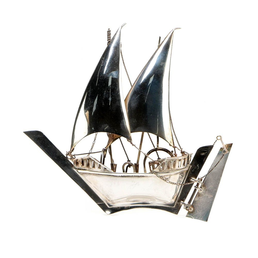 Sterling Silver Sailing Ship Figurine