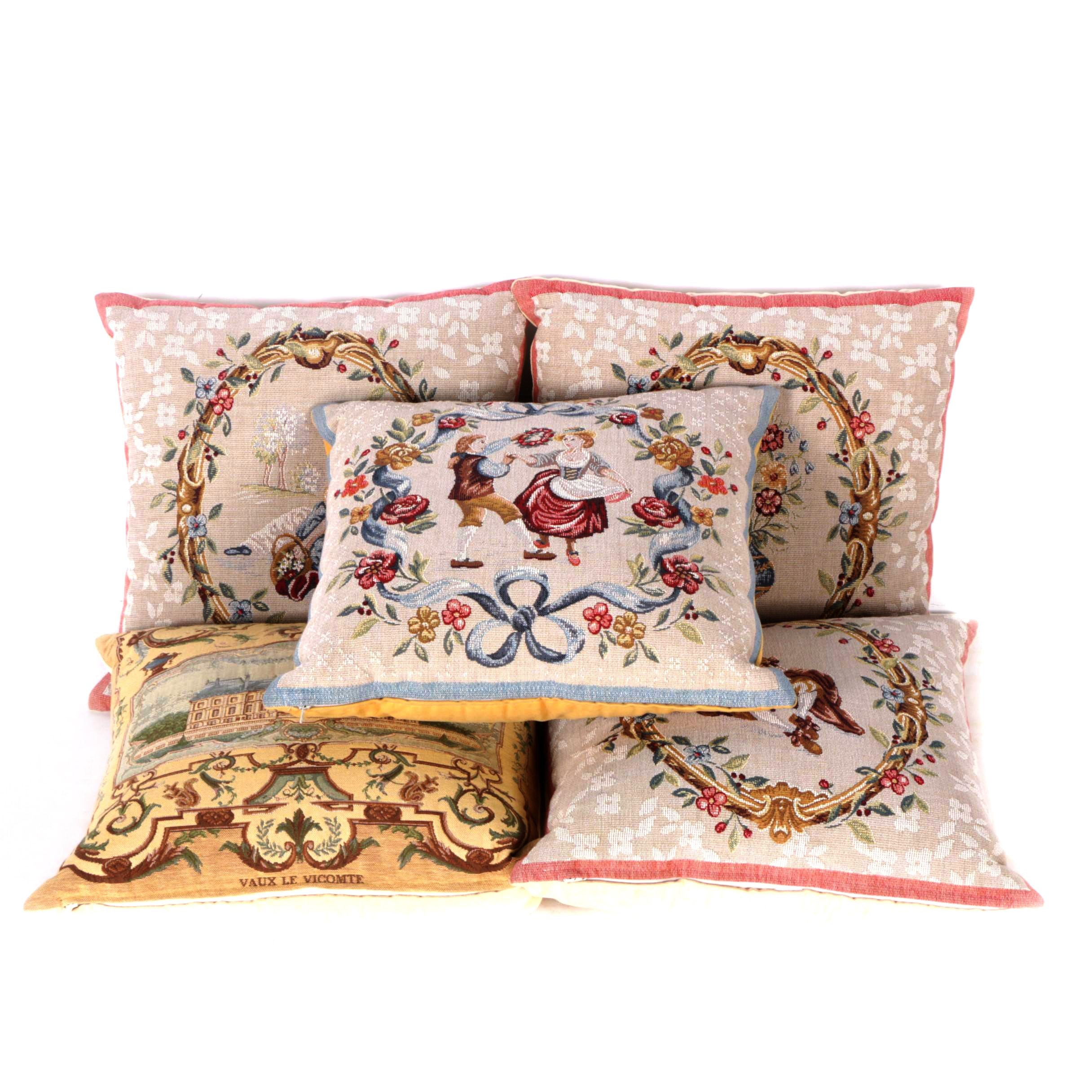 Accent Pillows with Removable Jacquard Covers
