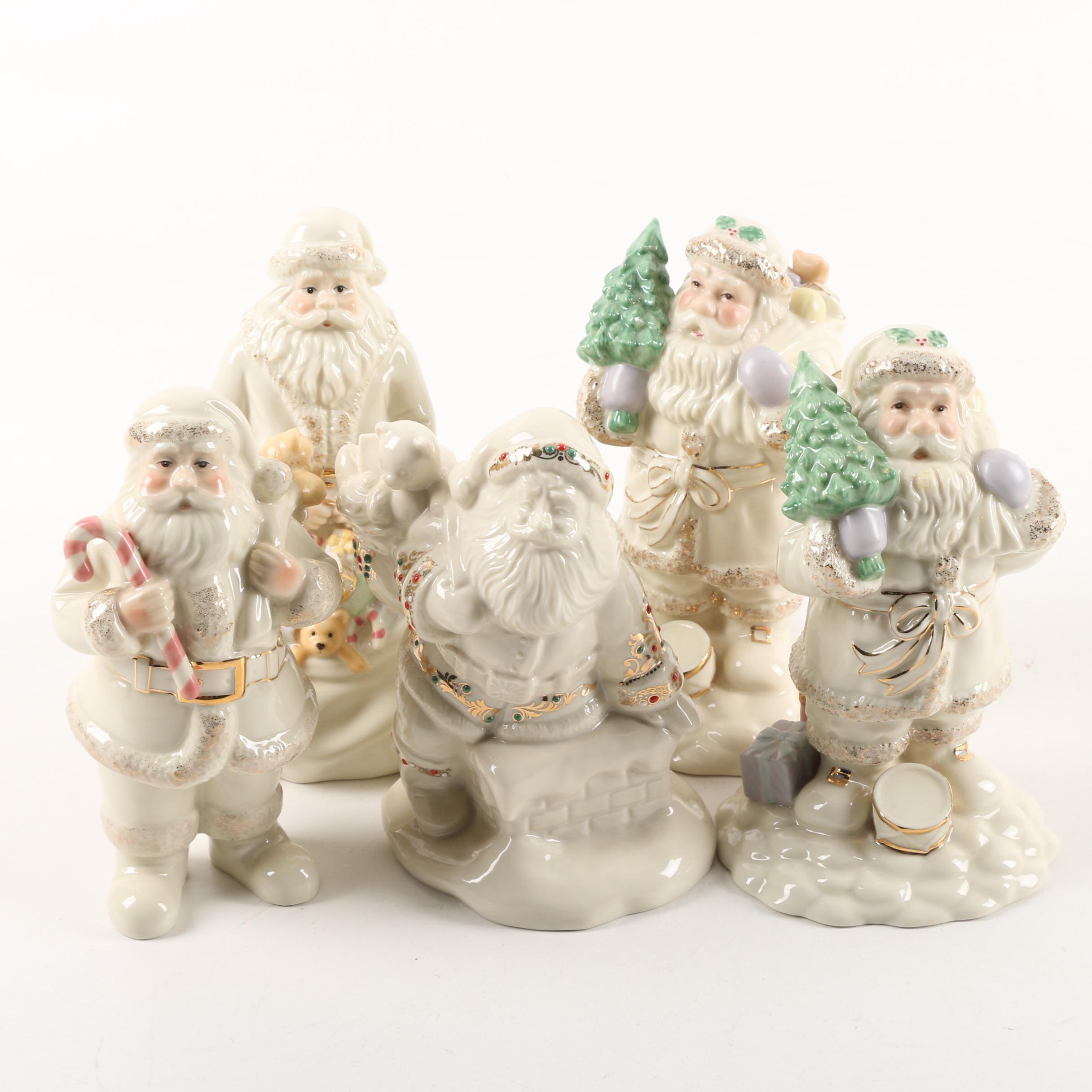 Lenox Handcrafted Porcelain Santa Figurines
