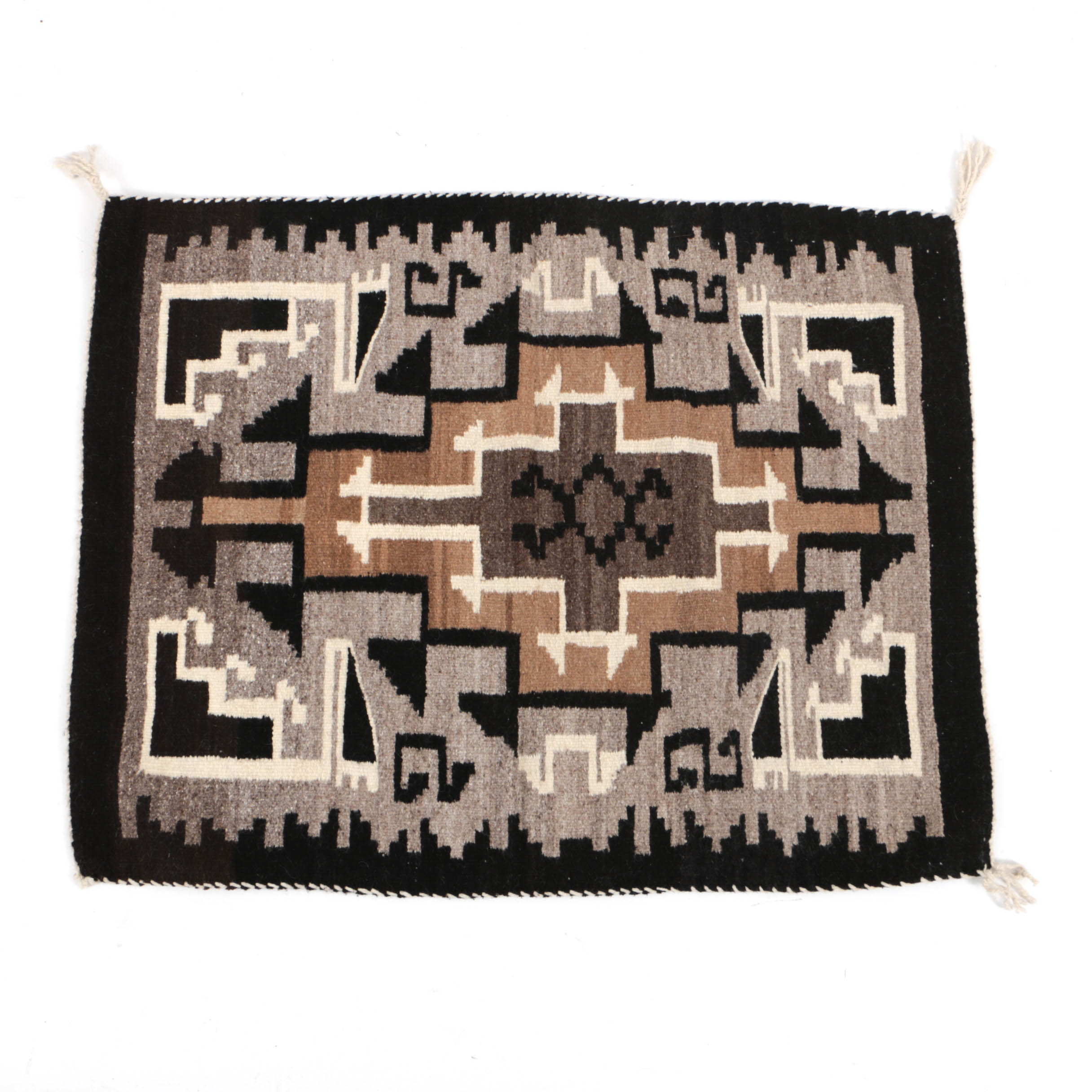 Contemporary Handwoven Navajo Wool Accent Rug