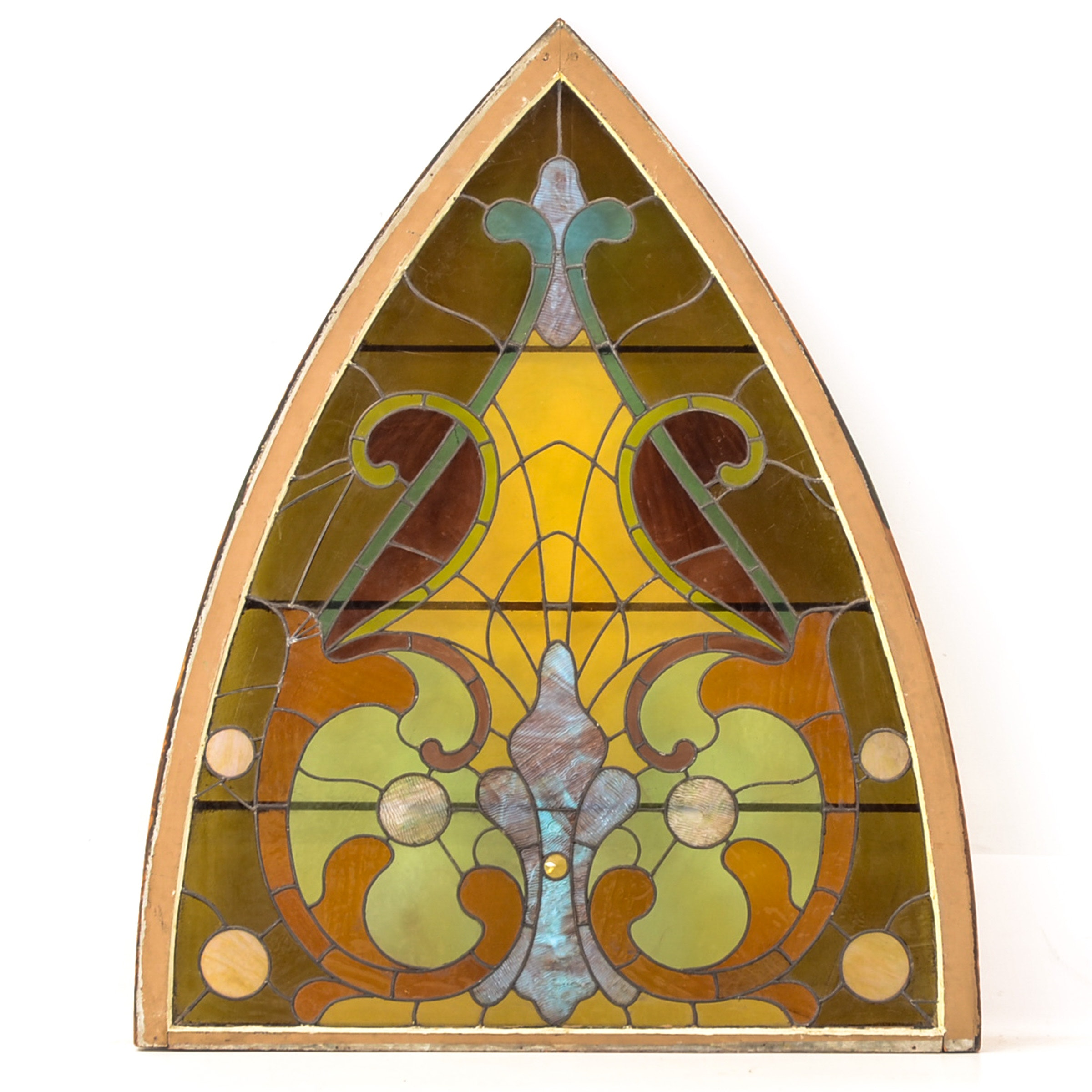 Pointed-Arch Stained Glass Window