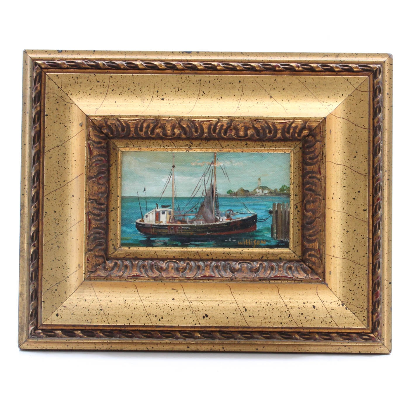 Willison Fishing Boat Oil Painting