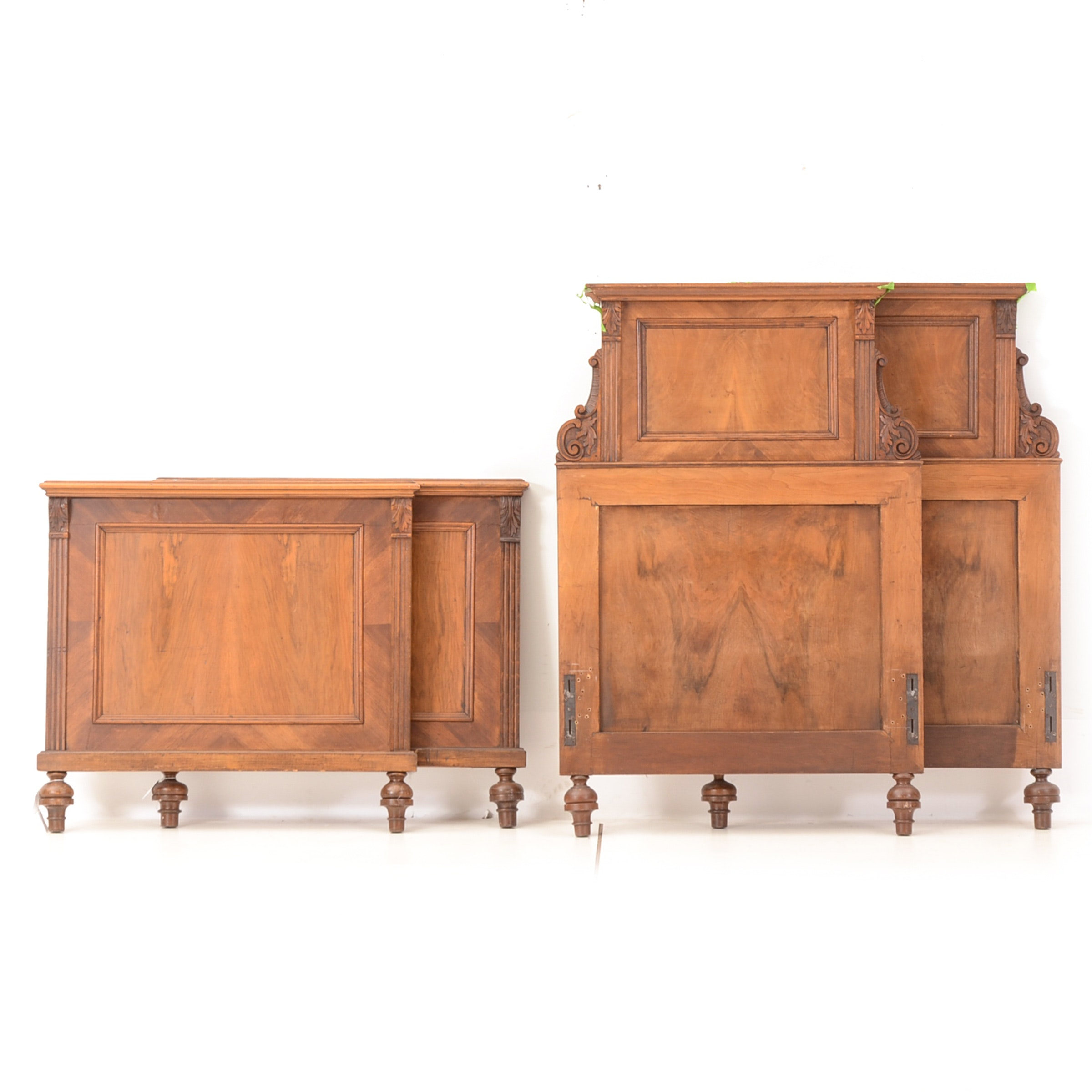 Pair of Vintage Twin Headboard and Footboards