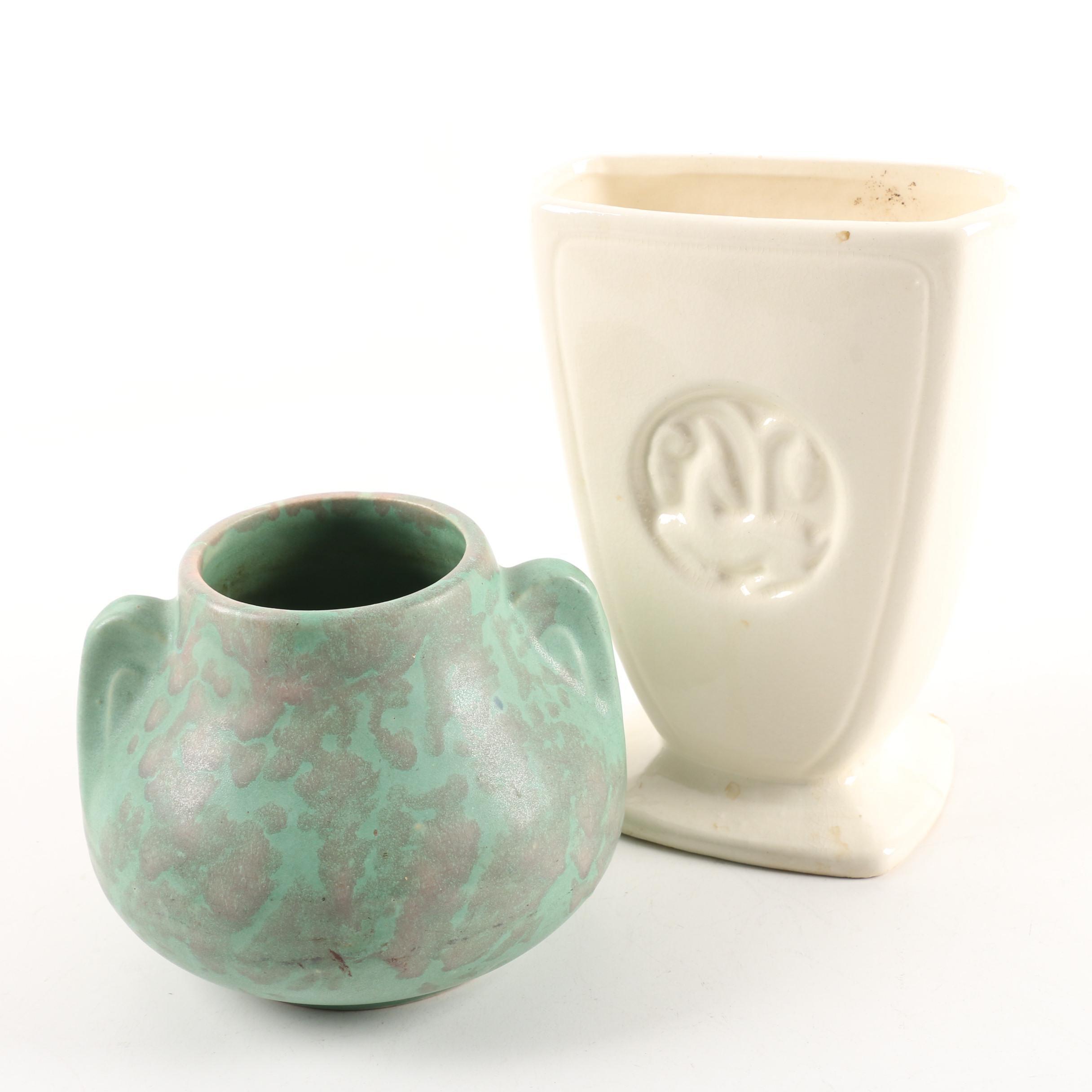 Vintage Ceramic Vases including Burley Winter