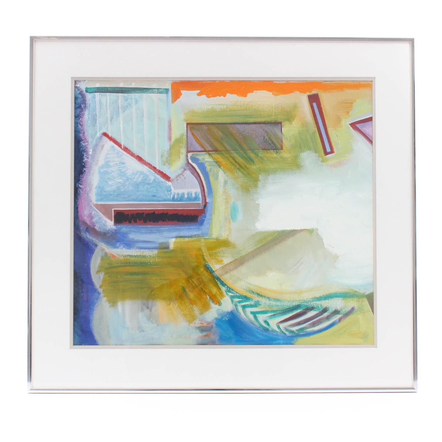 1998 Doris Vlasek-Hails Abstract Painting