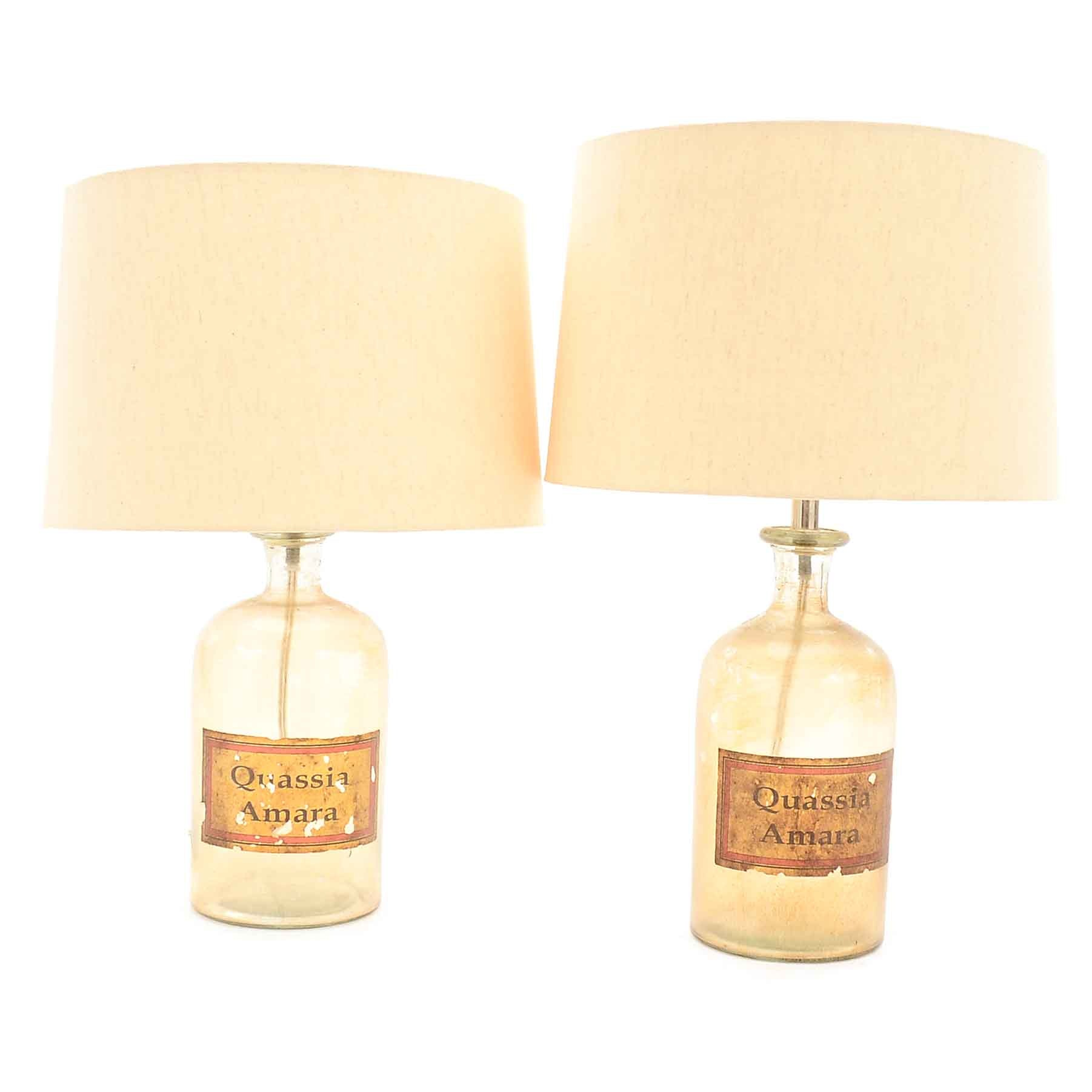 Pair of Bottle Table Lamps