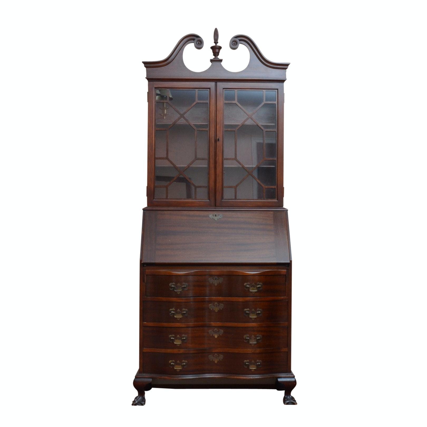 Federal Style Mahogany Secretary Bookcase