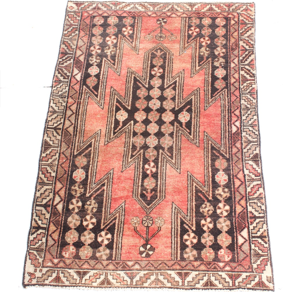 3'1 x 4'8 Vintage Hand-Knotted Persian Zanjan Rug