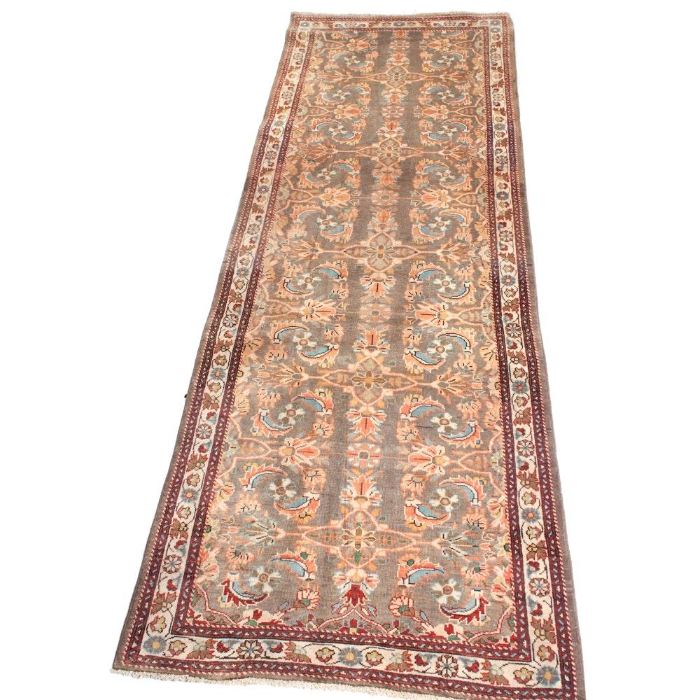 3'8 x 10'2 Vintage Hand-Knotted Persian Mahal Sarouk Rug
