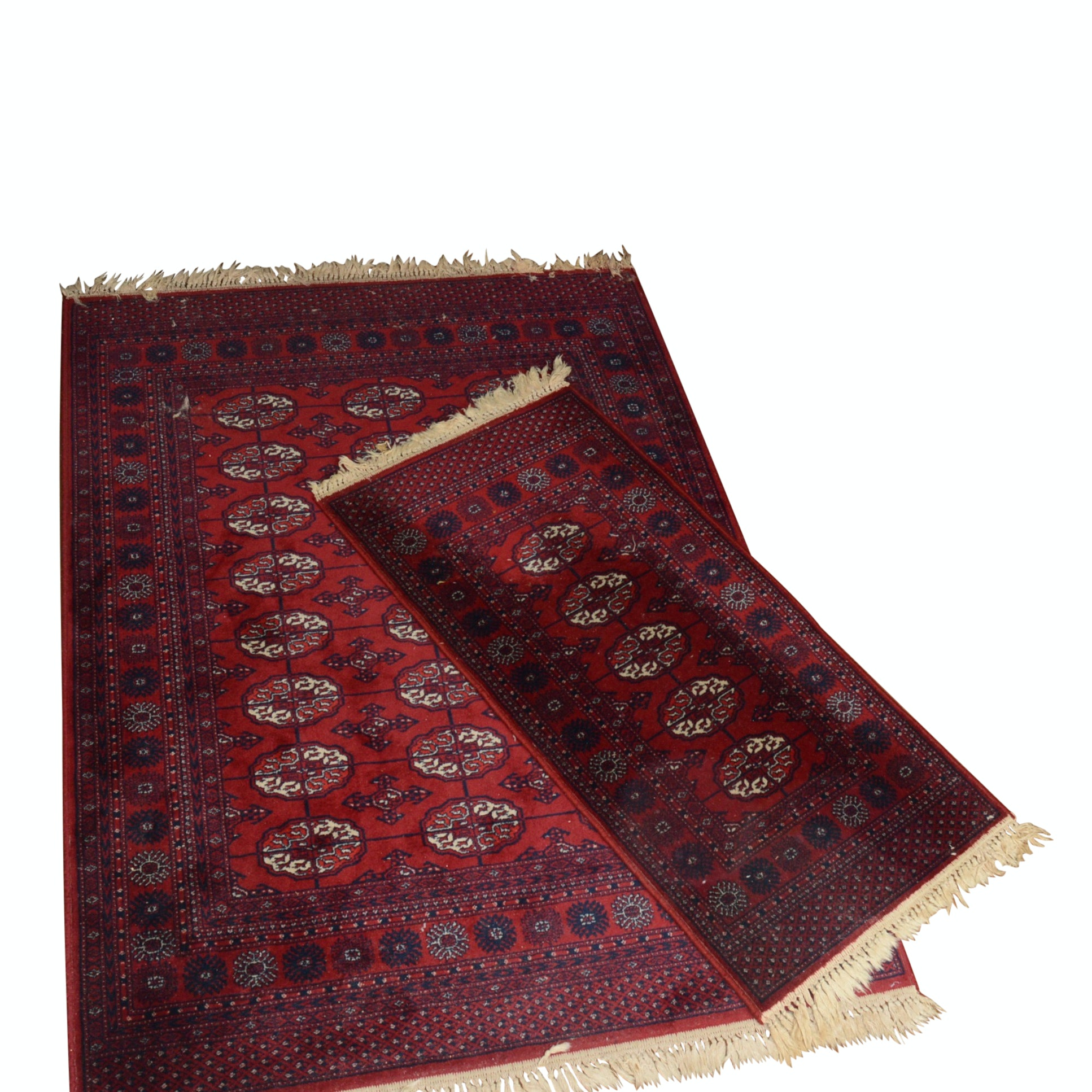 Machine Woven Bokhara-Style Area Rug and Matching Accent Rug