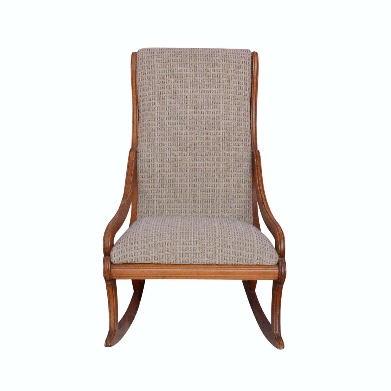 Vintage Upholstered Knitting Rocking Chair