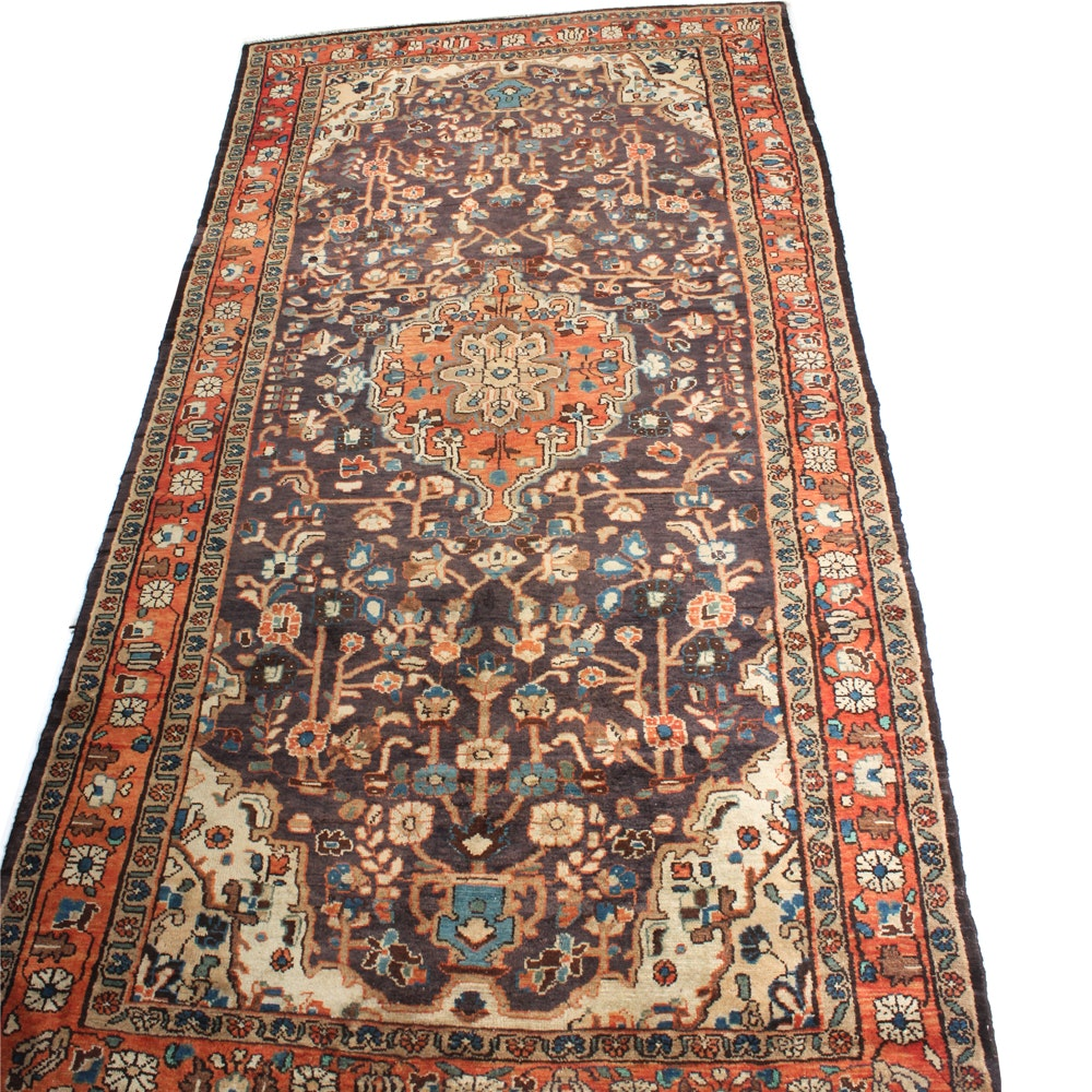 5'5 x 10'10 Vintage Hand-Knotted Persian Malayer Sarouk Rug