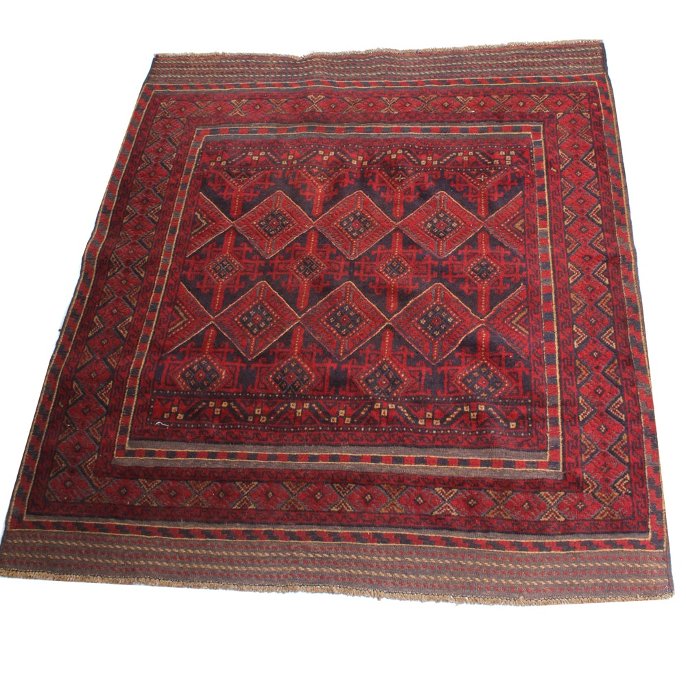 4'10 x 5'8 Hand-Knotted Northwest Persian Baluch Rug