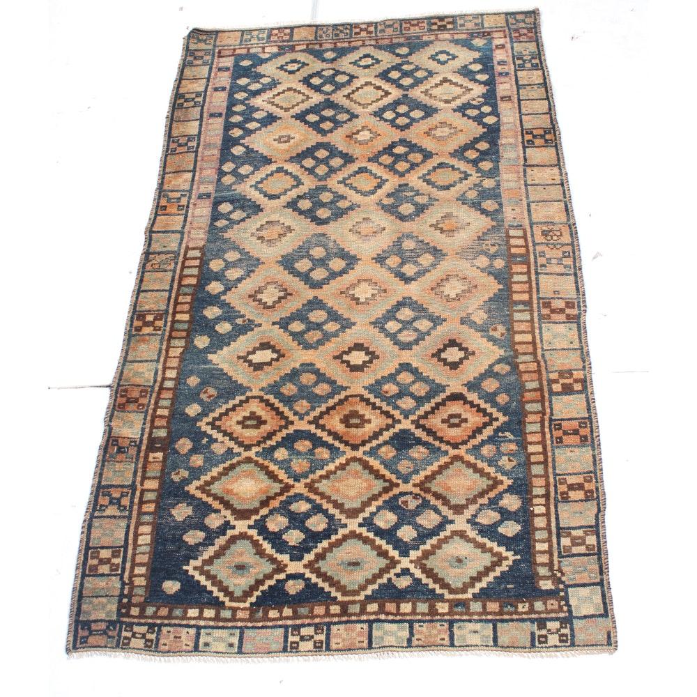 3'9 x 6'11 Semi-Antique Hand-Knotted Persian Qashqai Rug