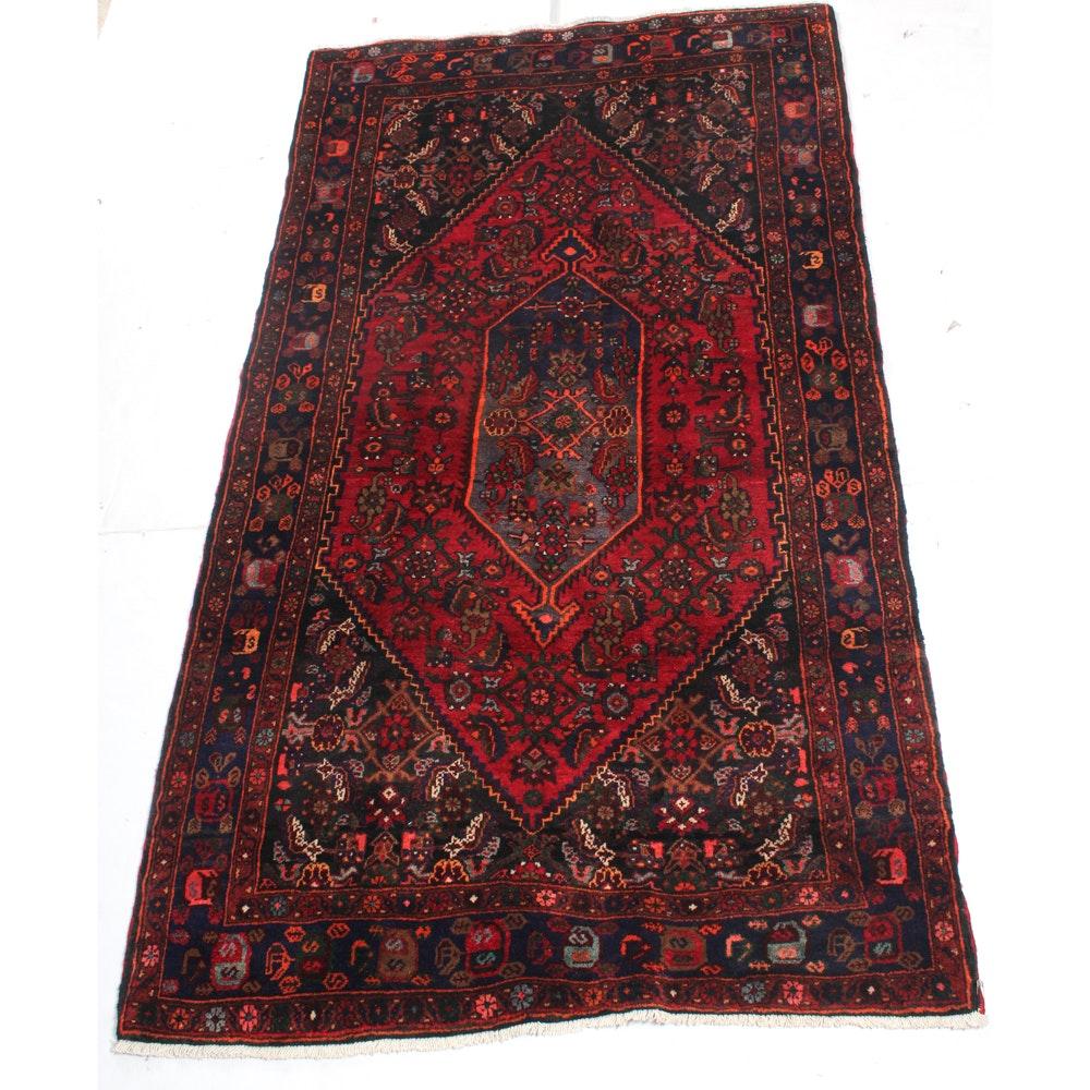 4'2 x 7'10 Hand-Knotted Kurdish Bijar Rug