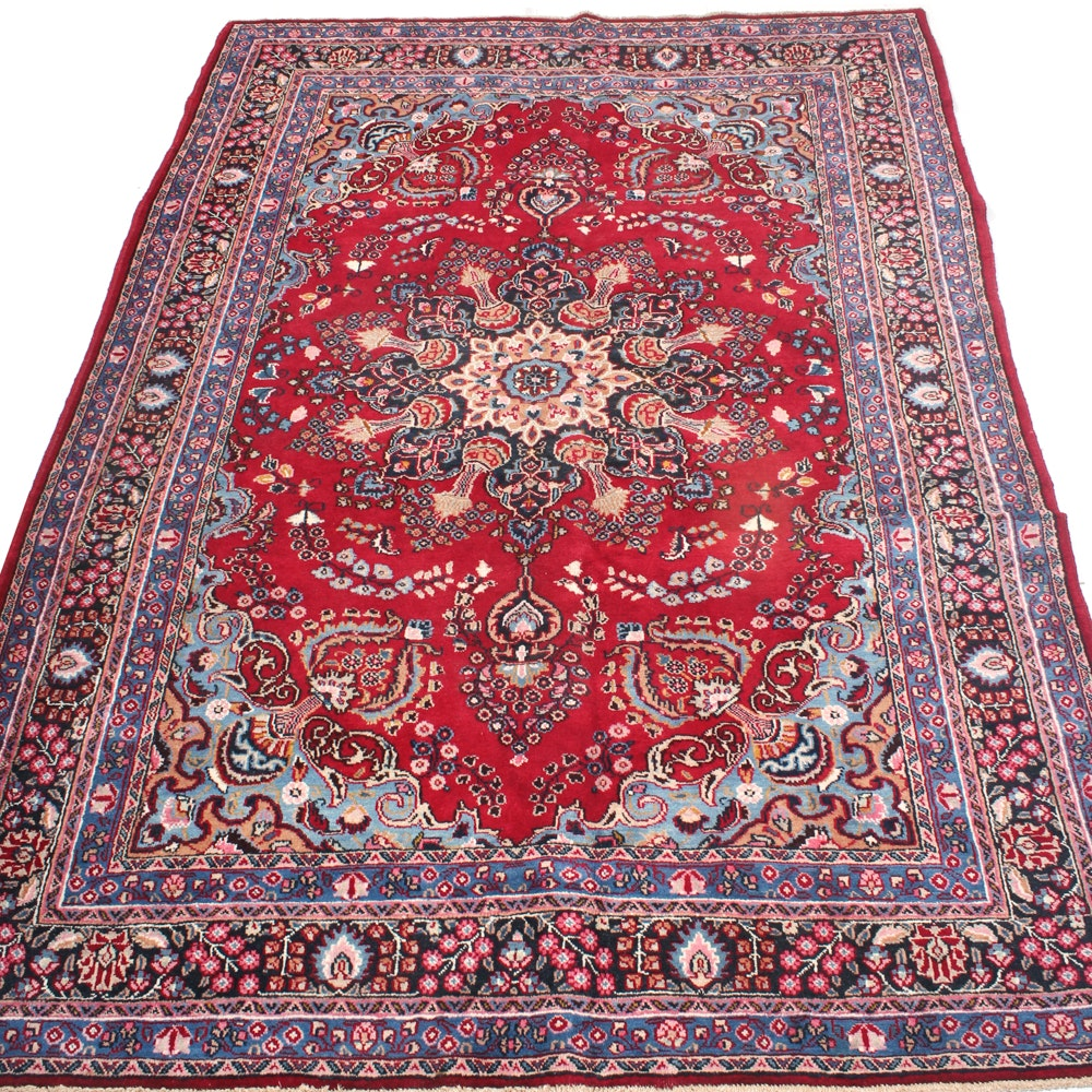 6'7 x 9'5 Vintage Hand-Knotted Persian Ferahan Sarouk Rug