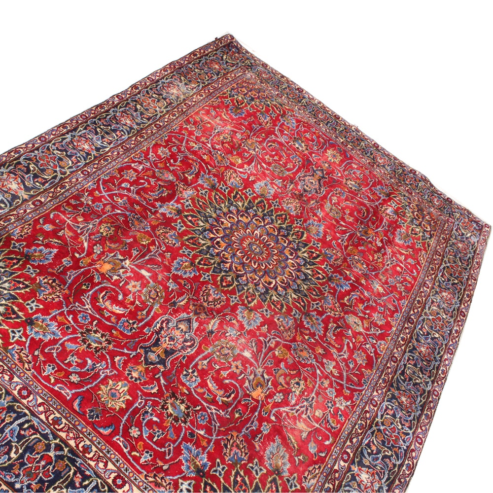7'9 x 11'3 Vintage Hand-Knotted Persian Isfahan Rug