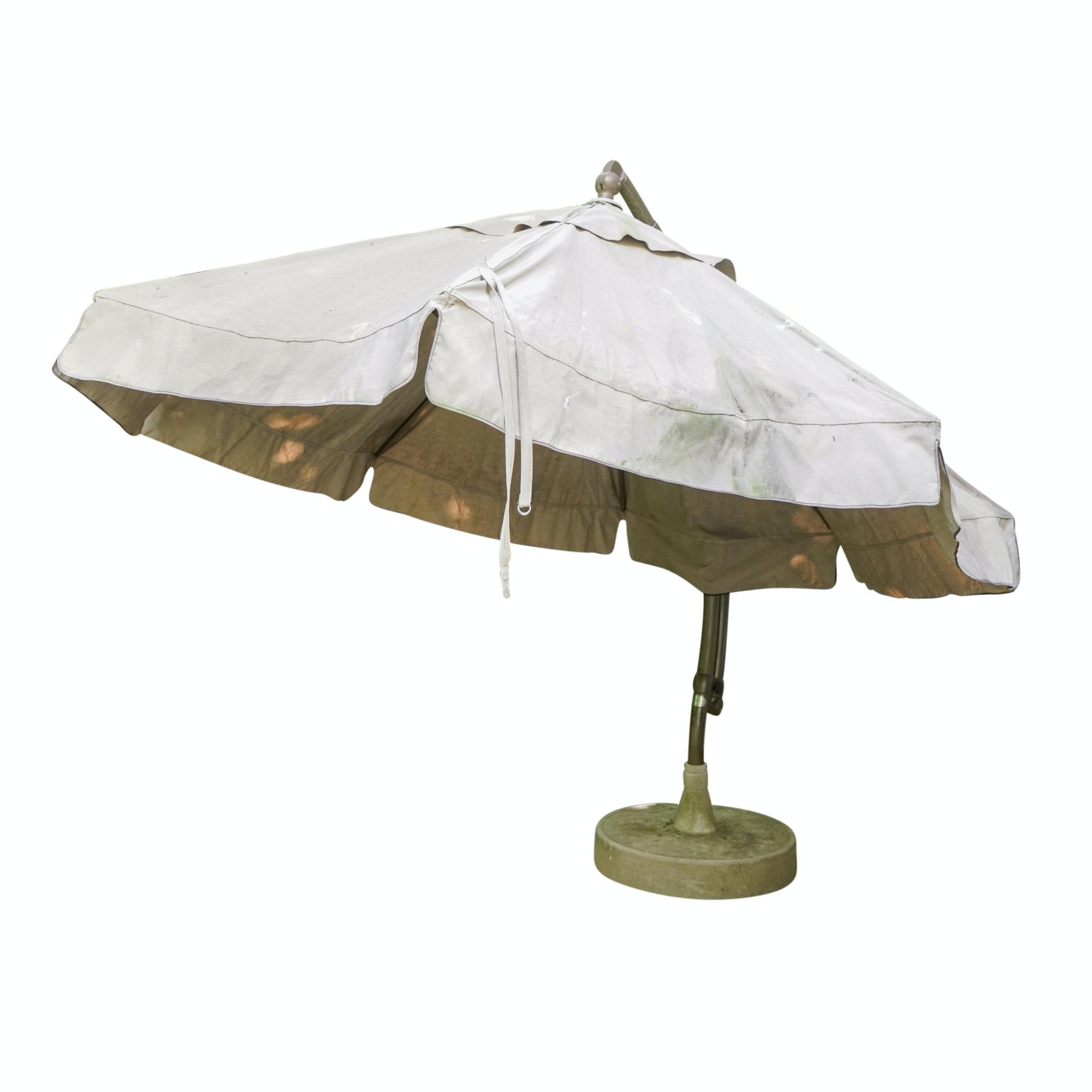 Sun Garden Easy Sun Parasol Umbrella with Weighted Base