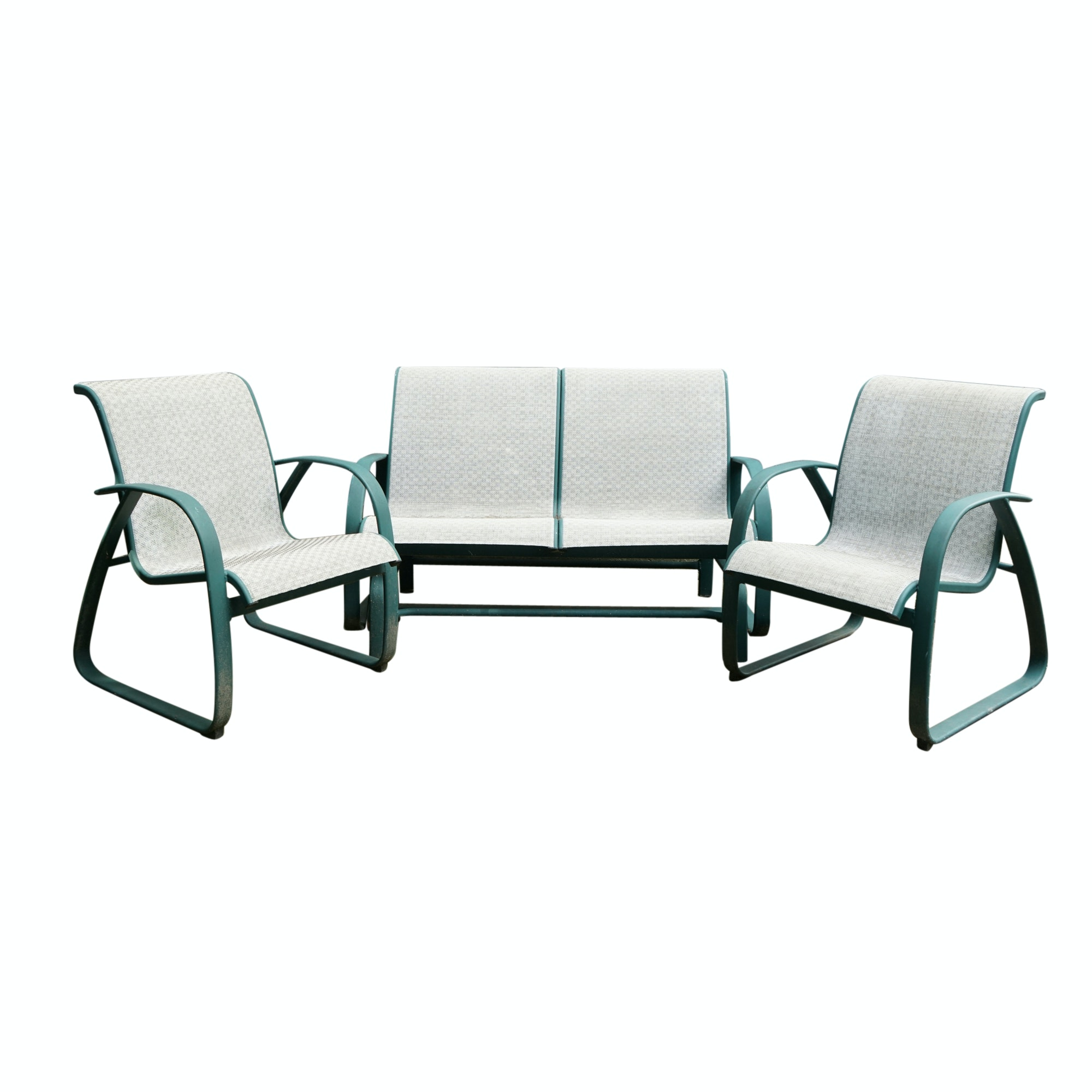 Patio Chairs and Swinging Loveseat