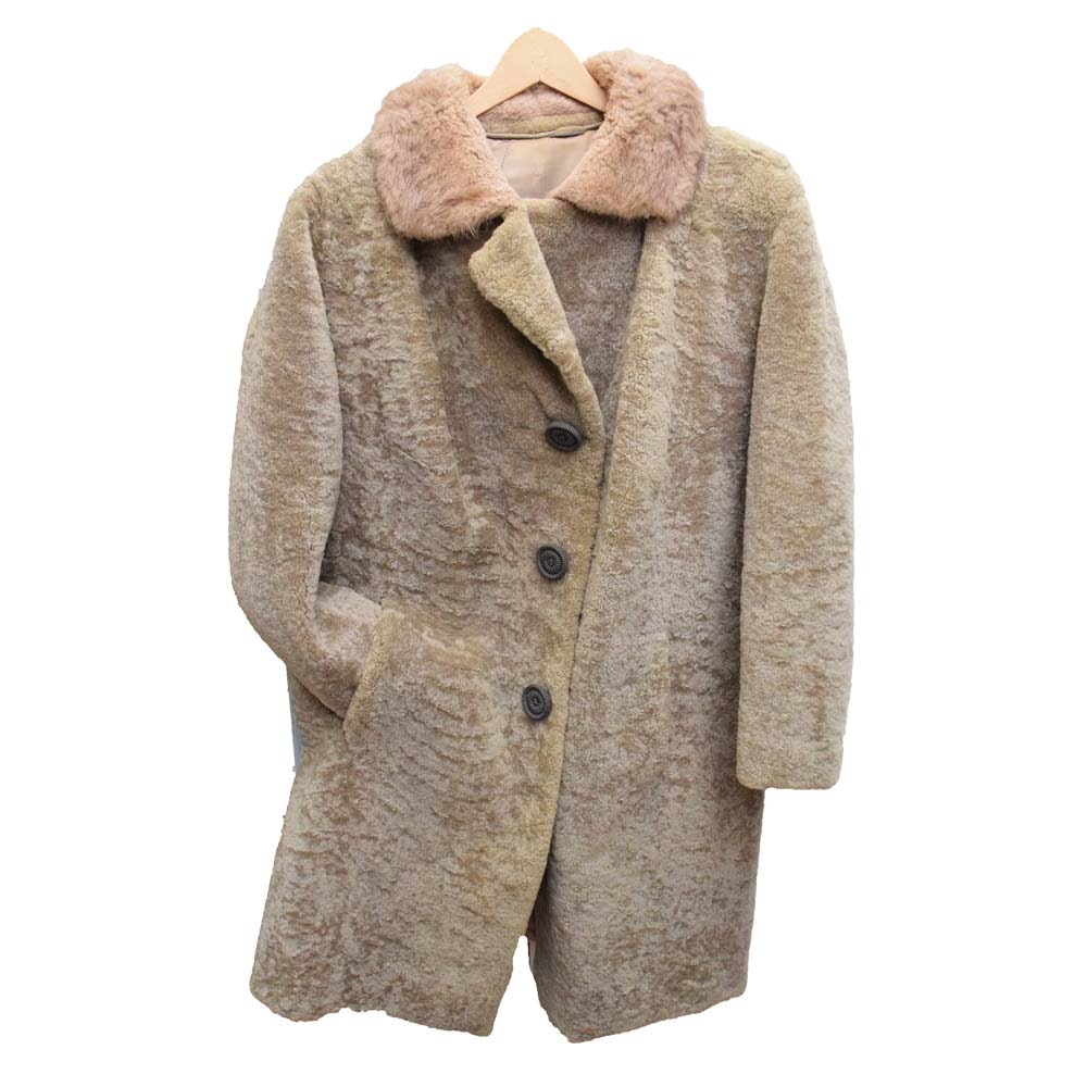 Vintage Sheared Persian Lamb Wool Fur Coat
