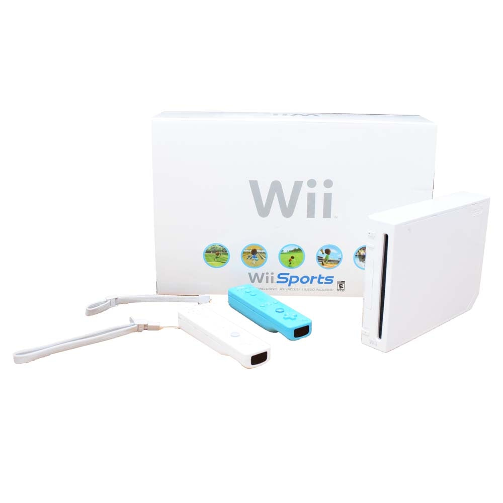 Wii Sports Game Console and Accessories
