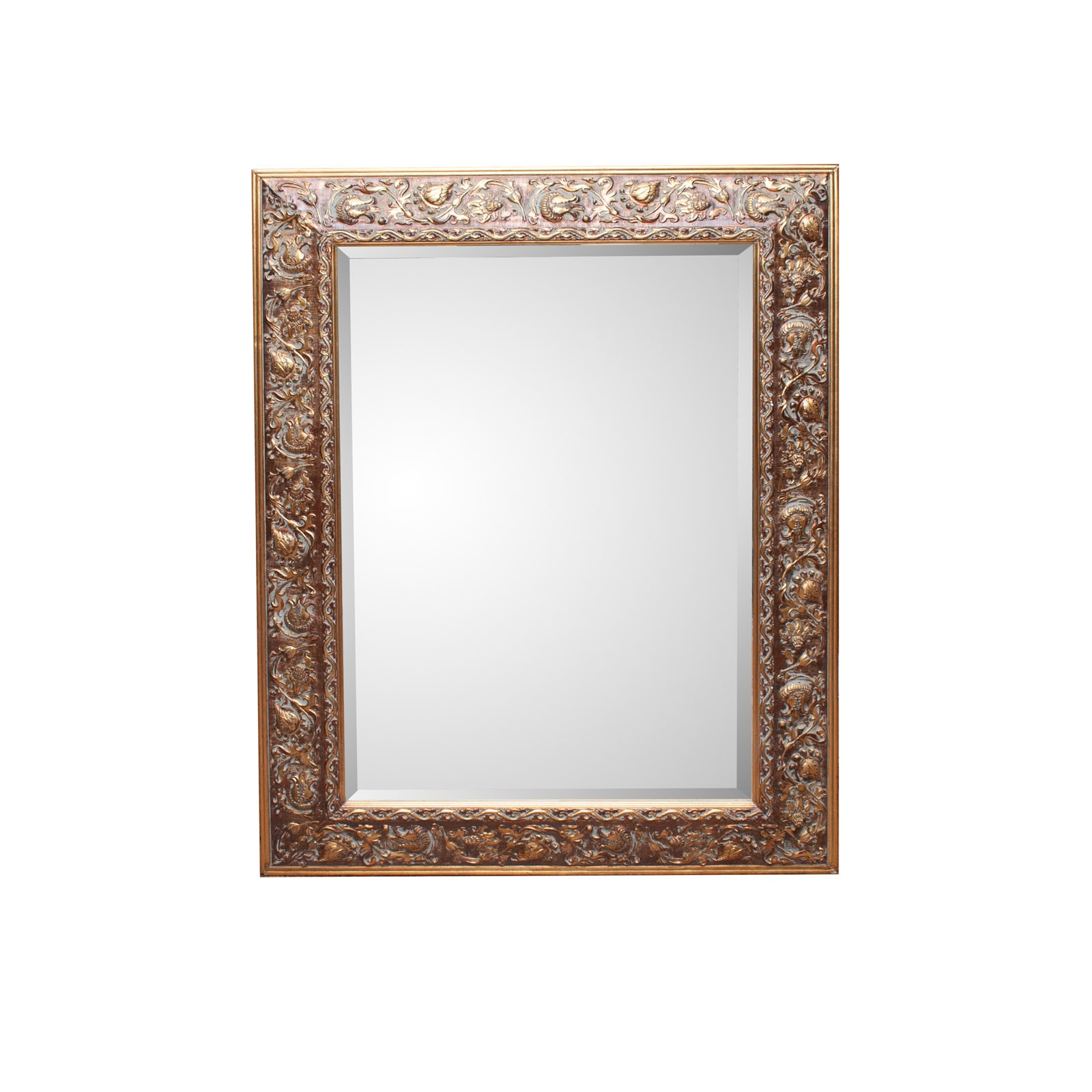 Large Floral Gilt Wall Mirror