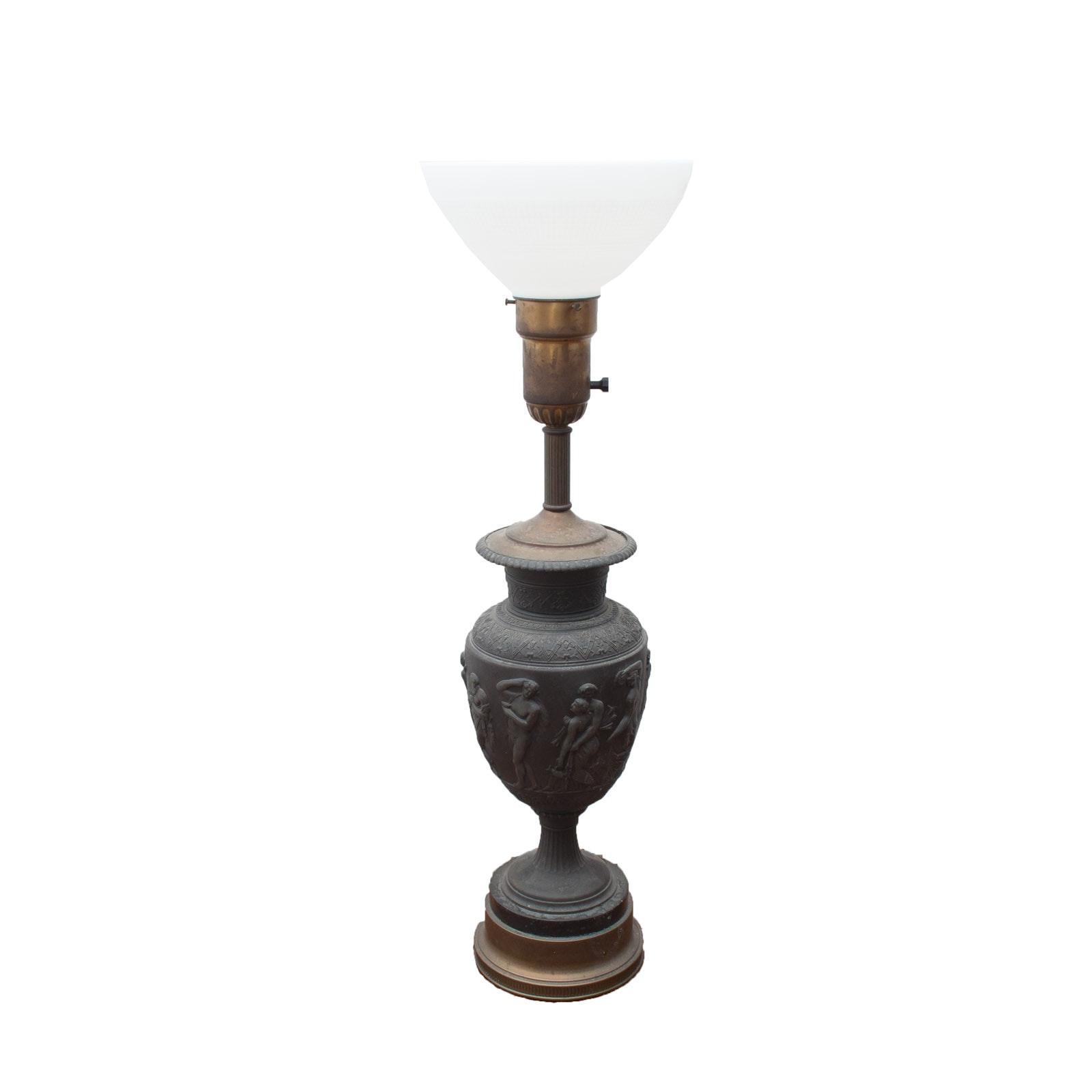 Antique Bronze NeoClassical Style Urn Table Lamp