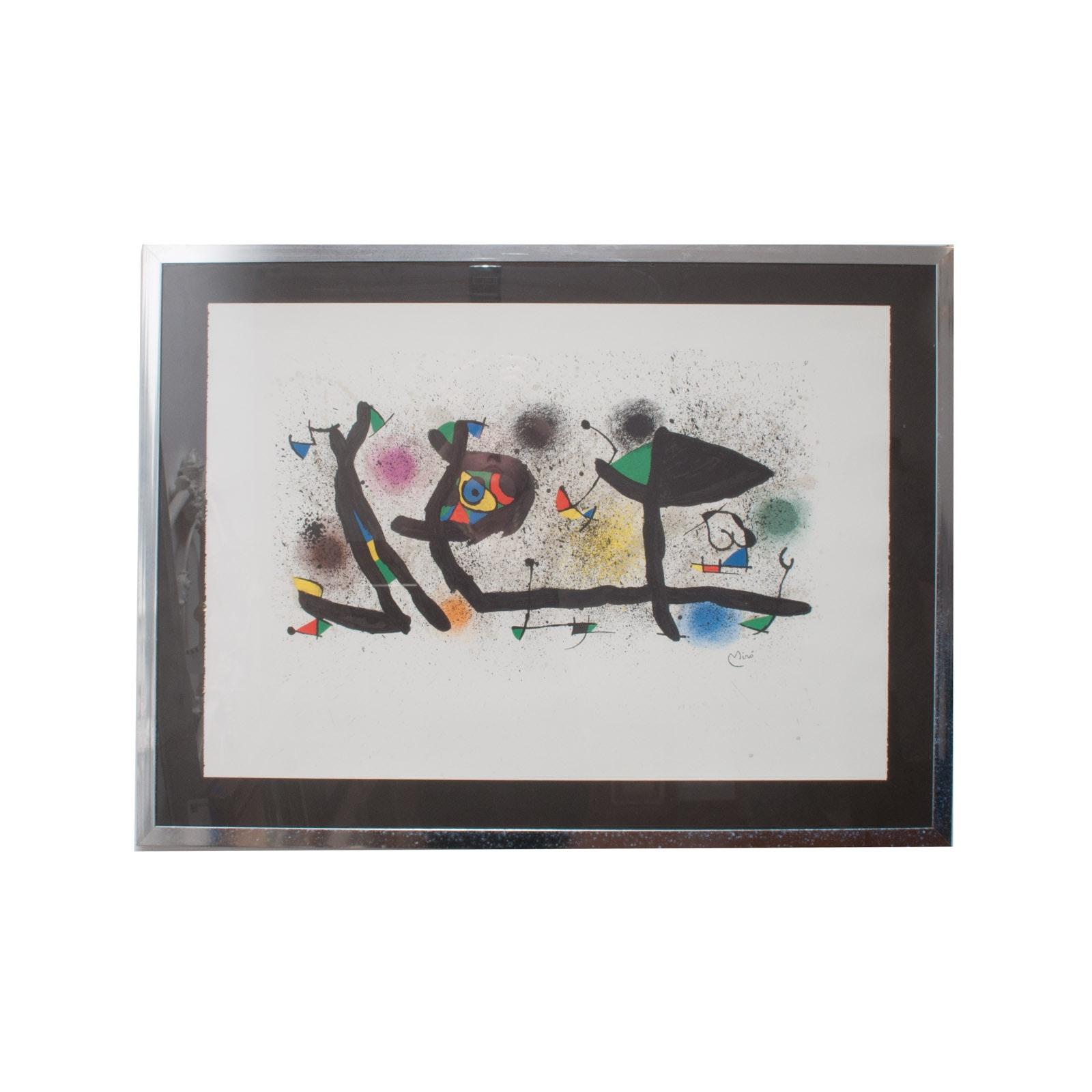 Joan Miró i Ferrà Lithograph Print on Laid Paper