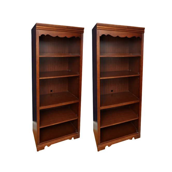 Wooden Bookcase Pair by Broyhill