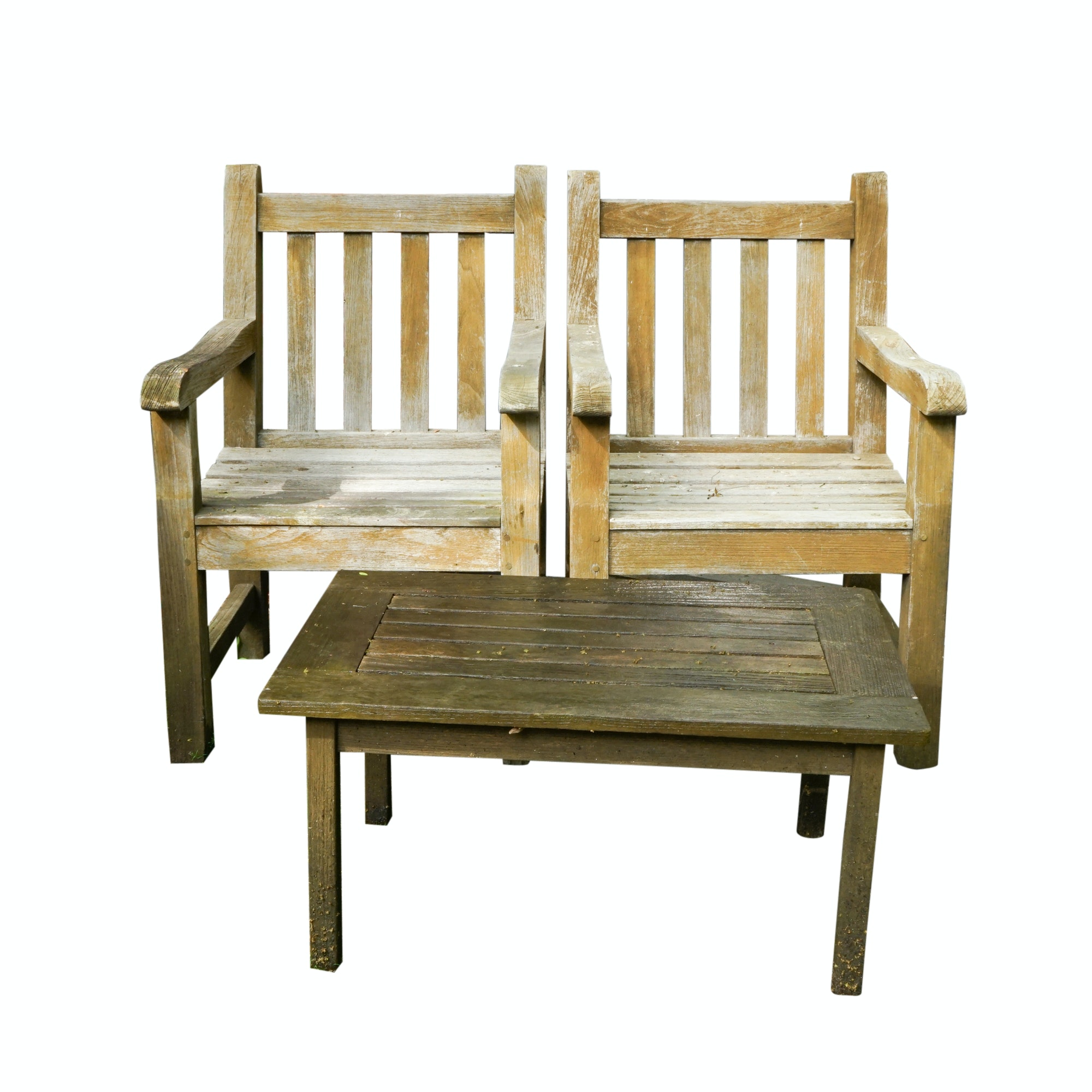 Wooden Patio Chairs with Side Table