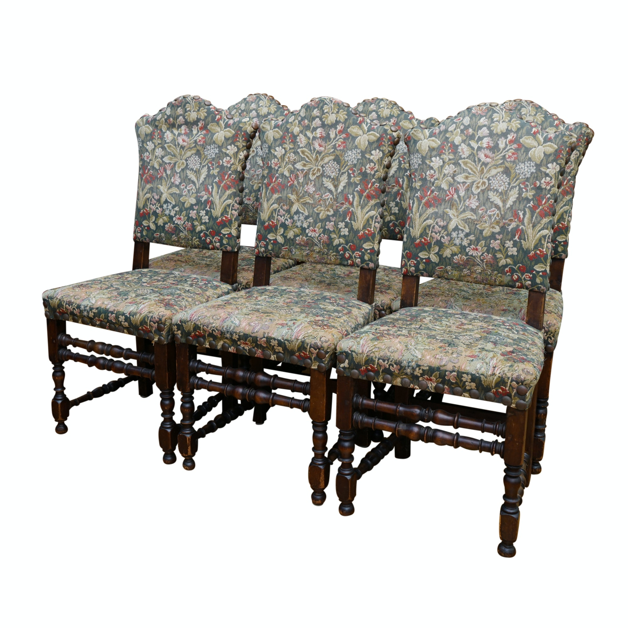 Six Antique Continental Side Chairs