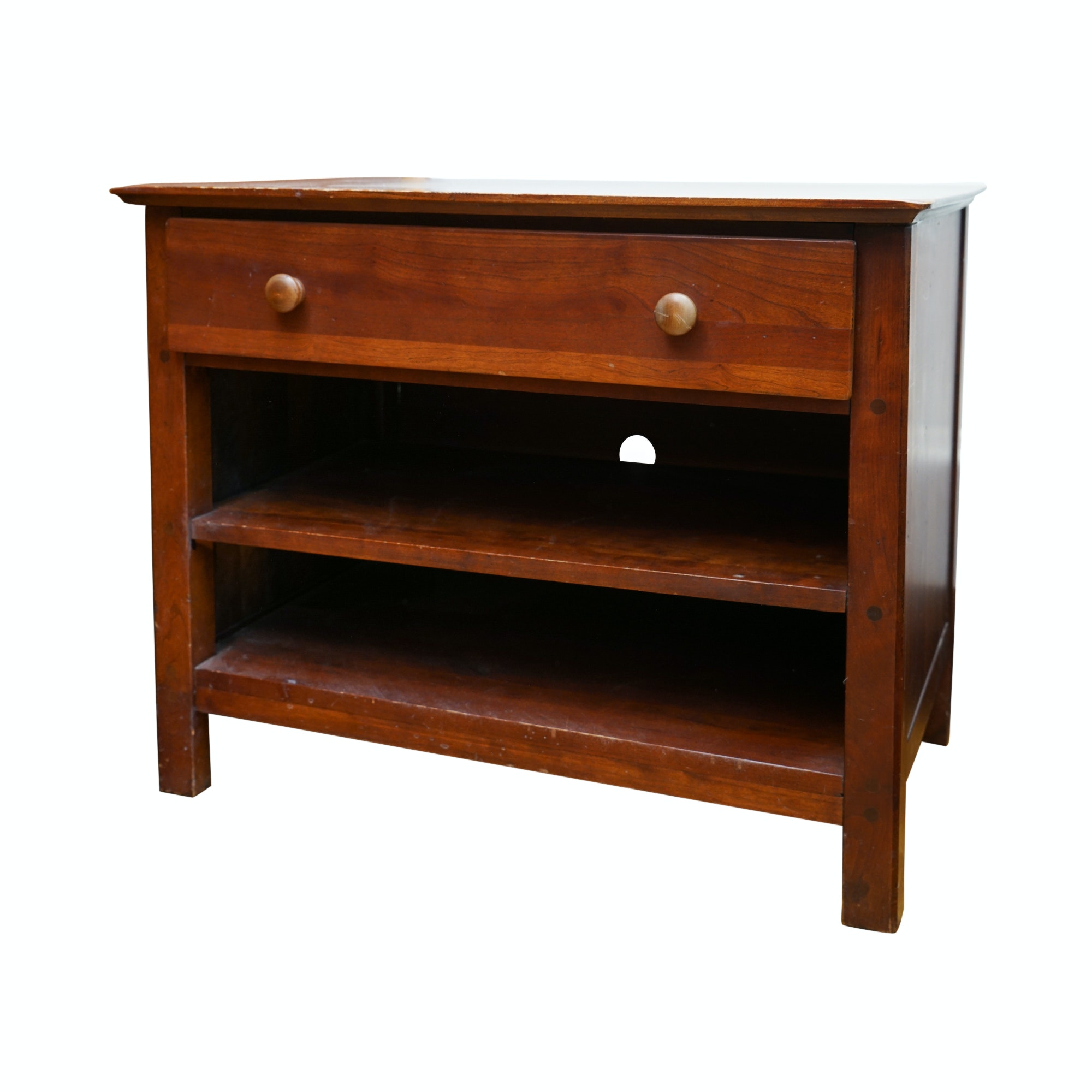 Contemporary One-Drawer Side Table with Shelving