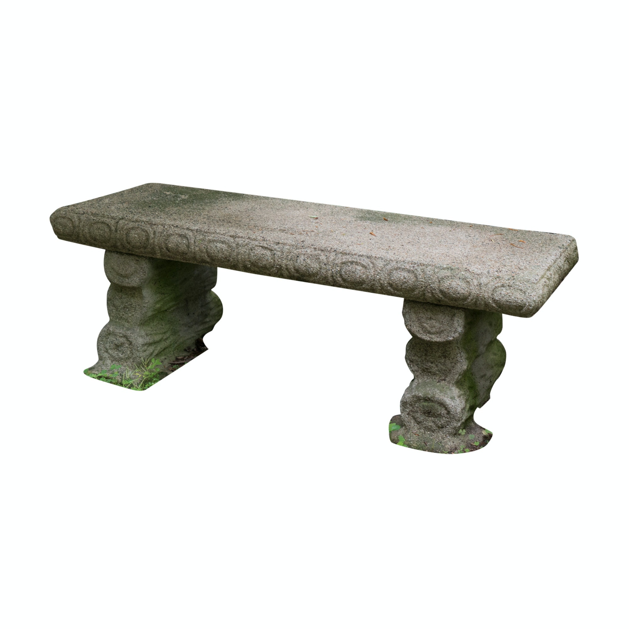 Cast Concrete Garden Bench