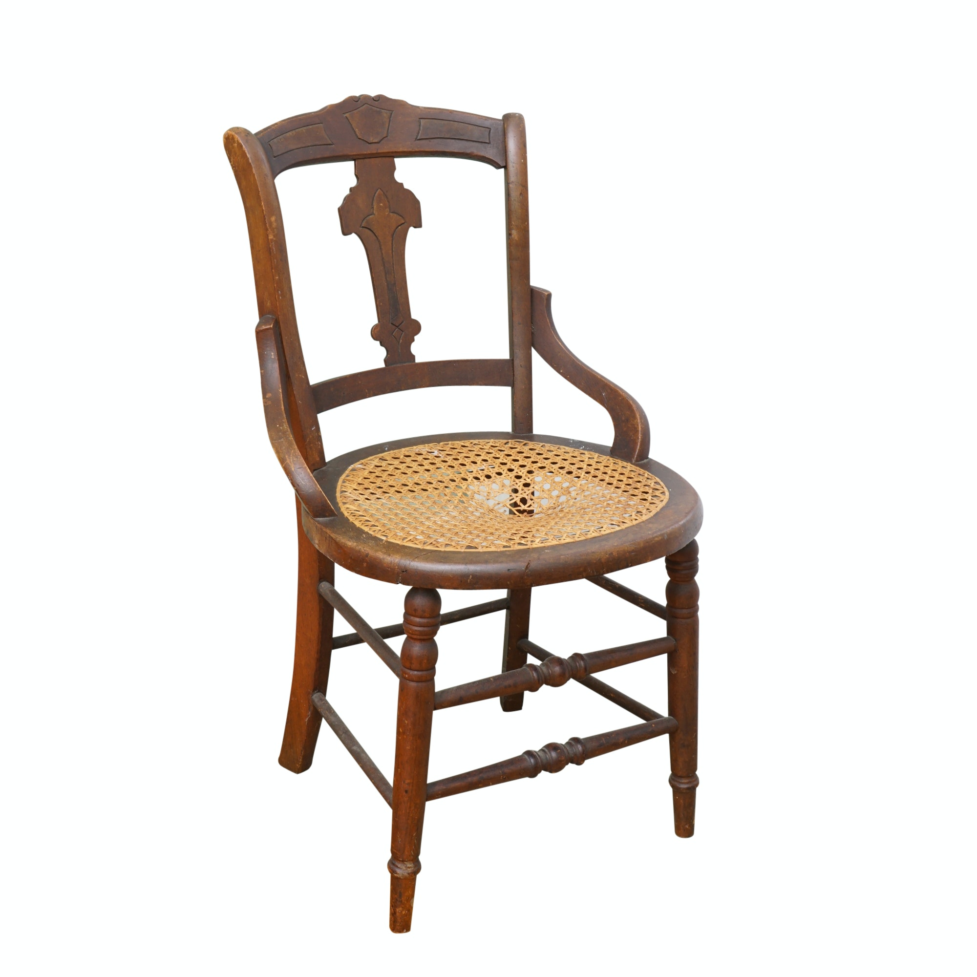 Victorian Style Caned Chair