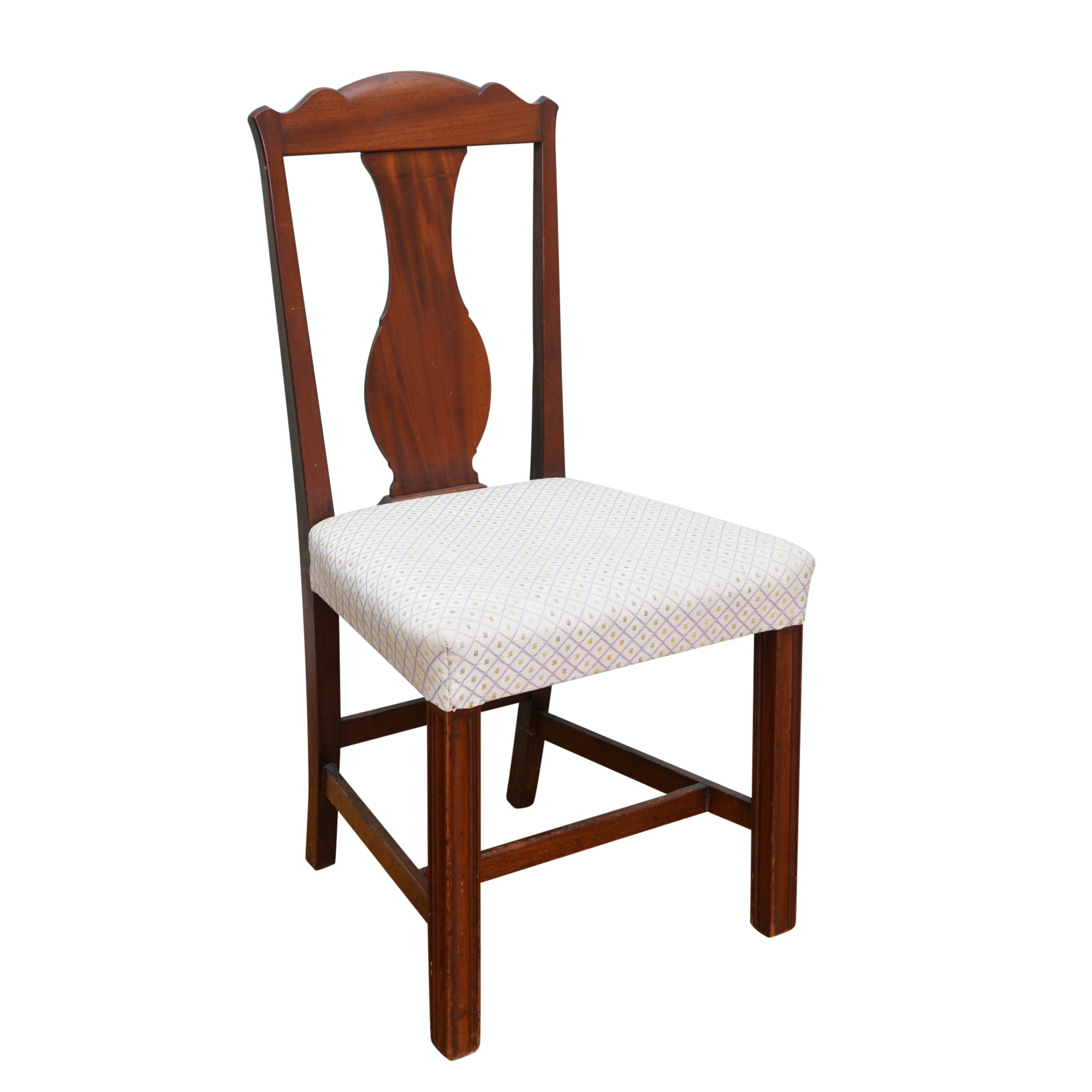 Vintage Chippendale Style Side Chair