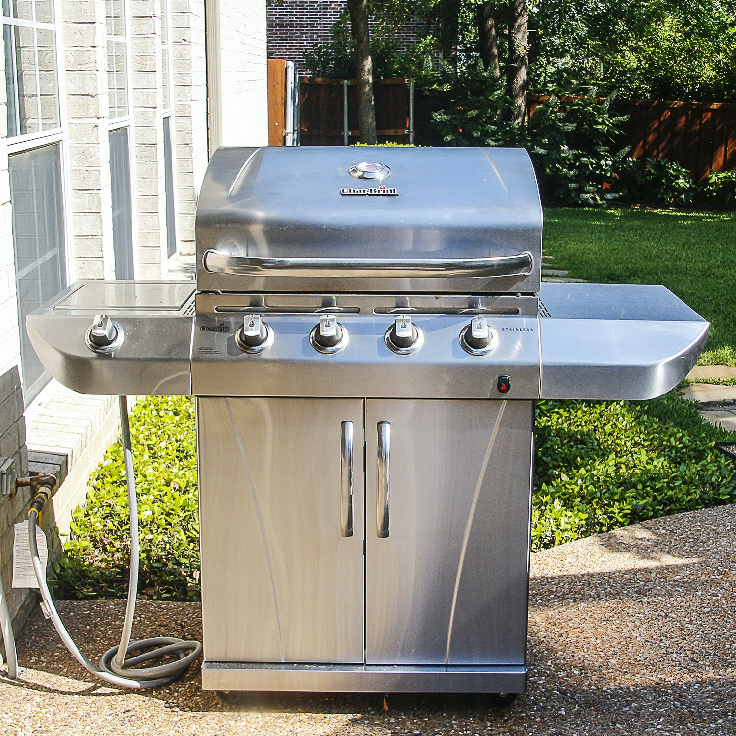 Stainless Steel Char-Broil Commercial Series Gas Grill