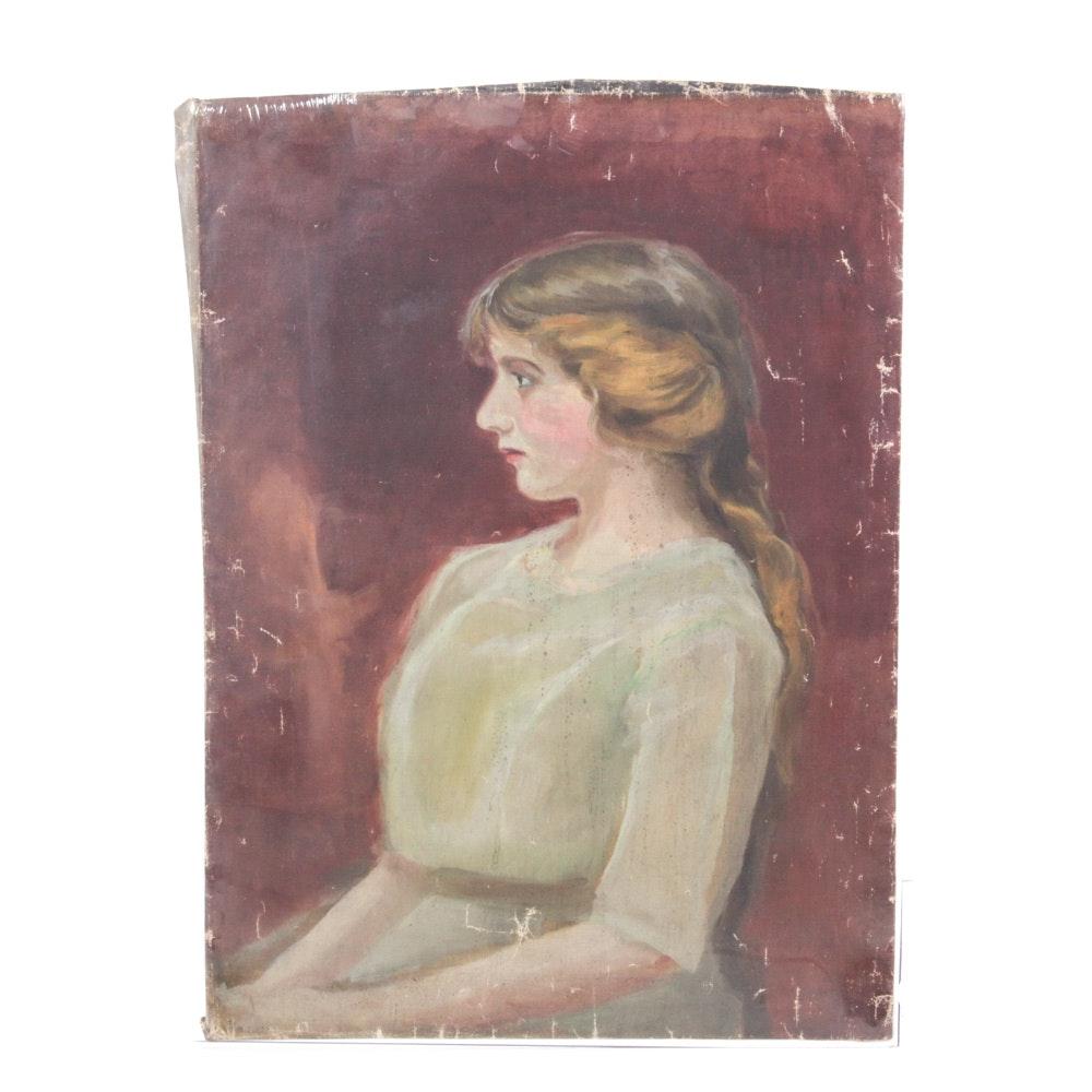 Original Conn Baker Oil-on-Canvas Portrait