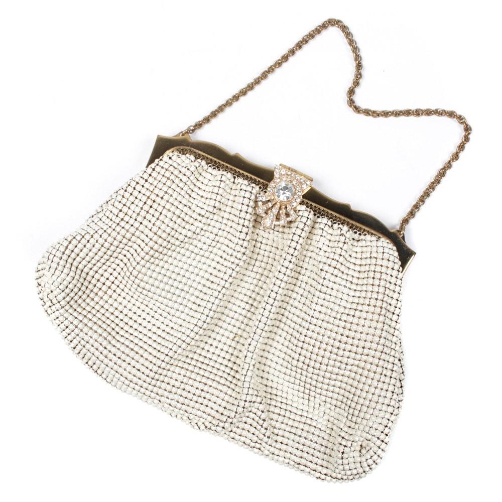 Vintage Whiting & Davis Enameled Metal Mesh Evening Bag