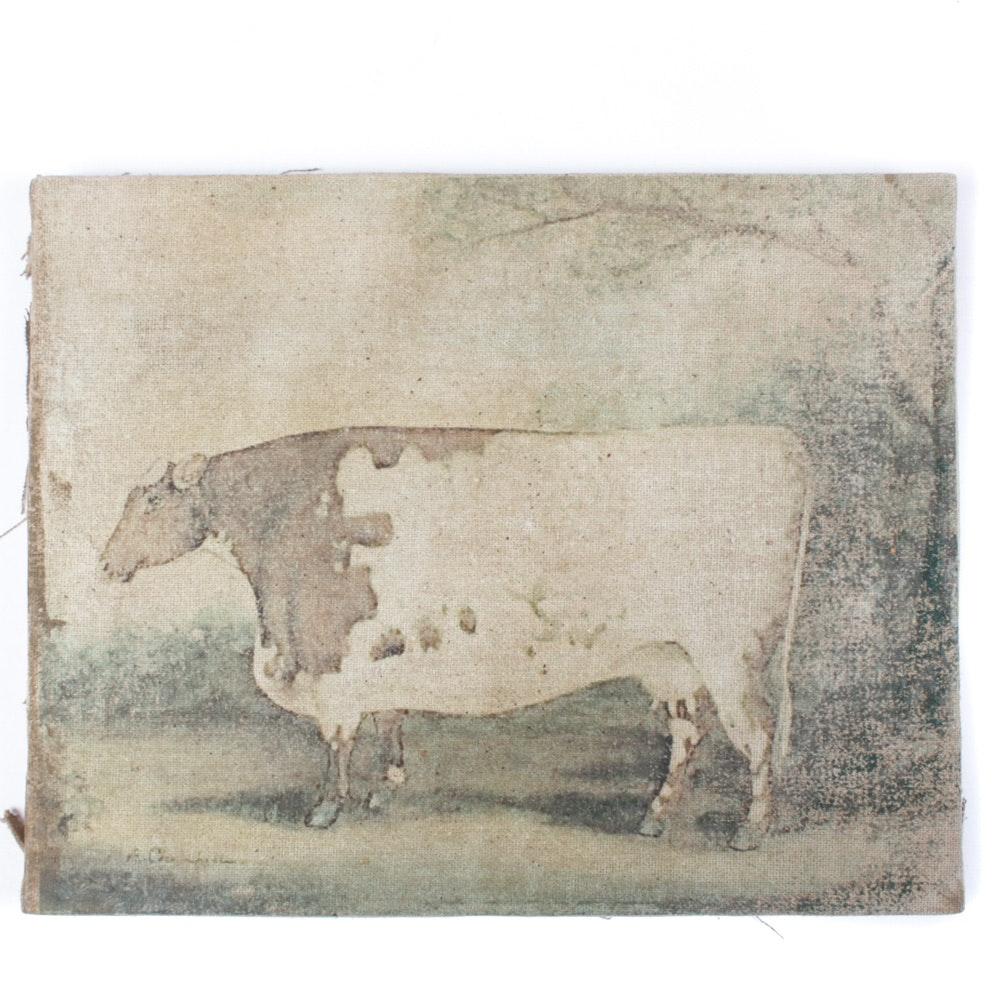 19th Century-Style Bovine Painting