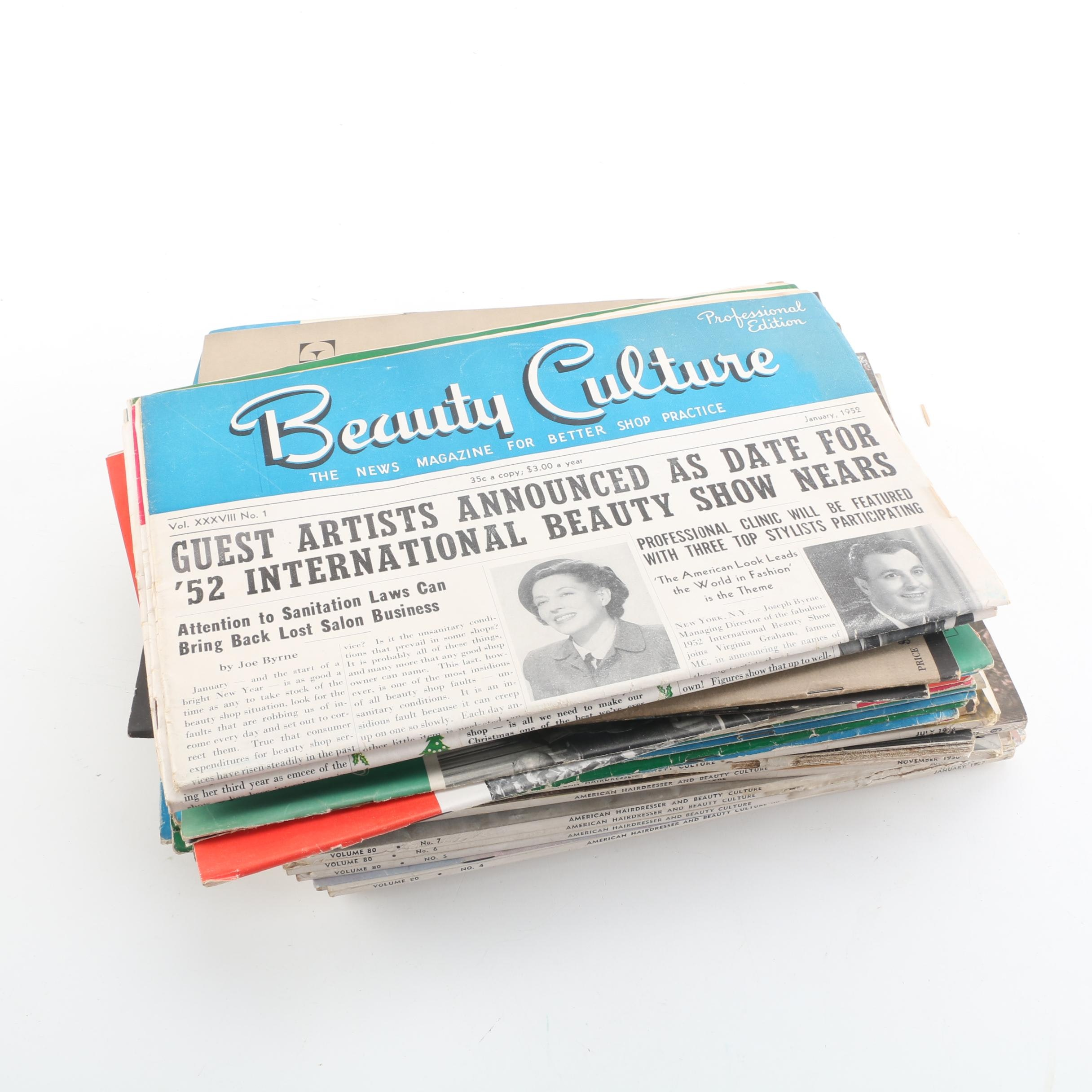 """Beauty Magazines, Catalogs, and Newspapers Including """"Beauty Culture"""""""