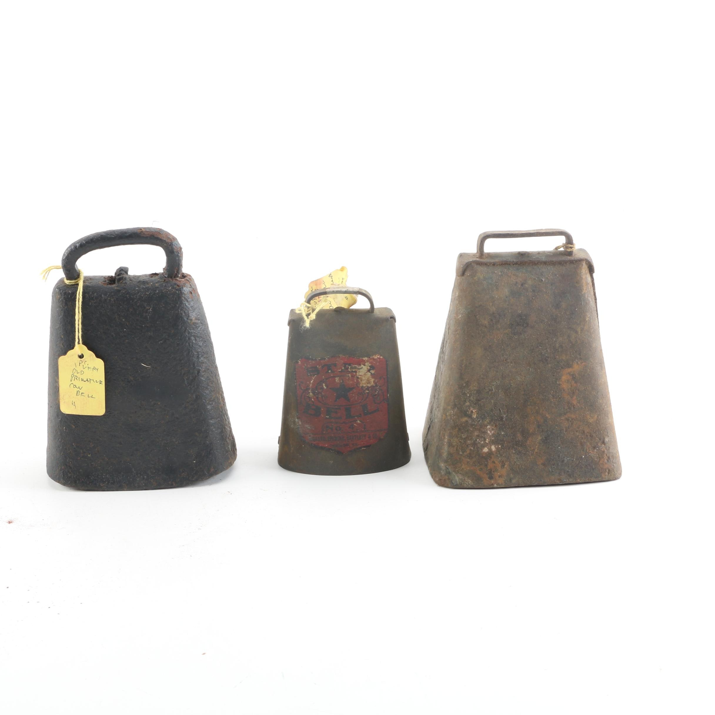 Antique Iron Cowbells