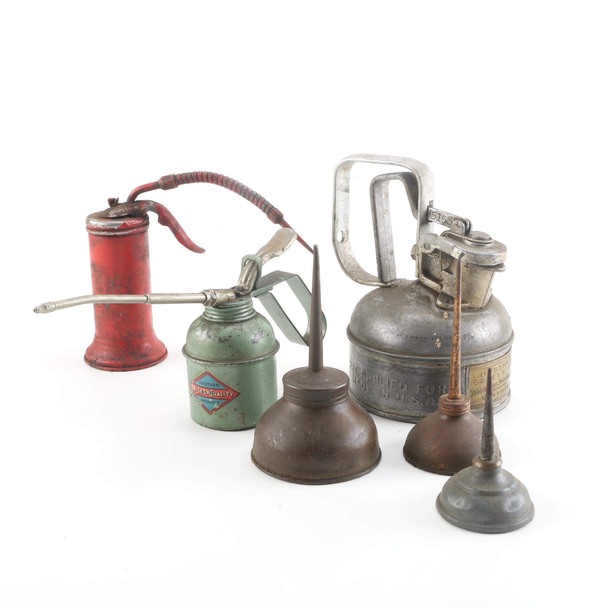 Oil Cans including Justrite