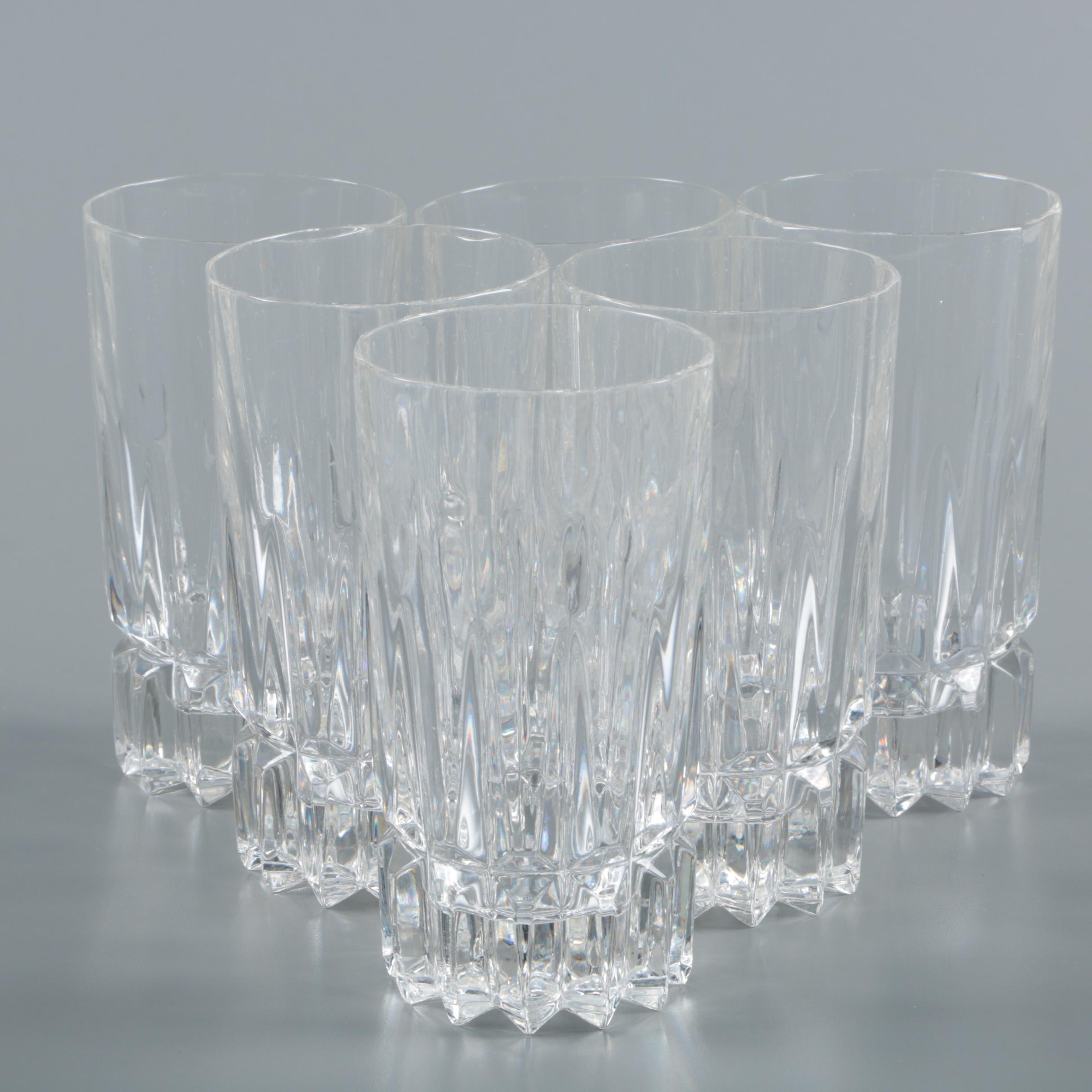 Clear Crystal Highball Glasses