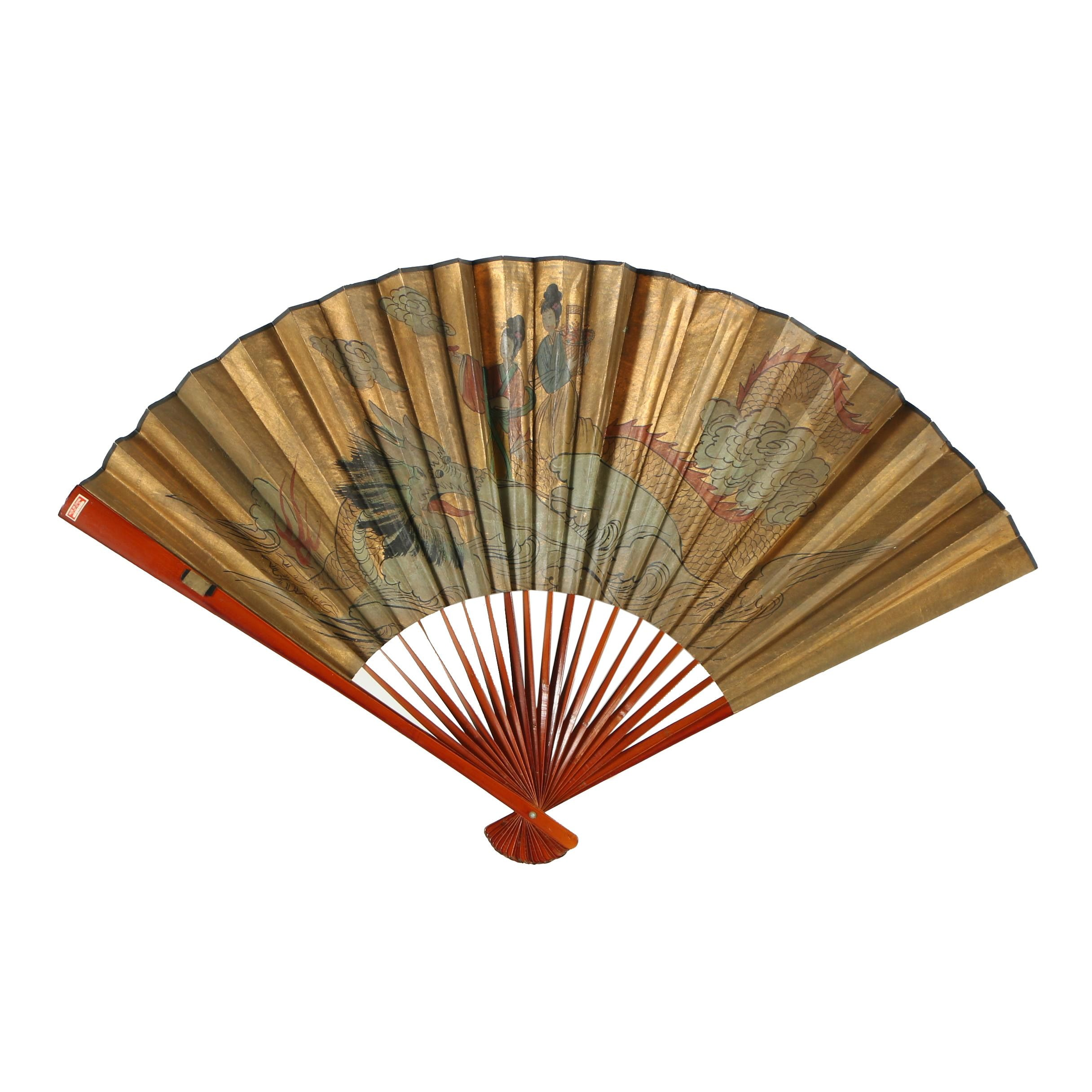 Chinese Hand-Painted Paper Fan