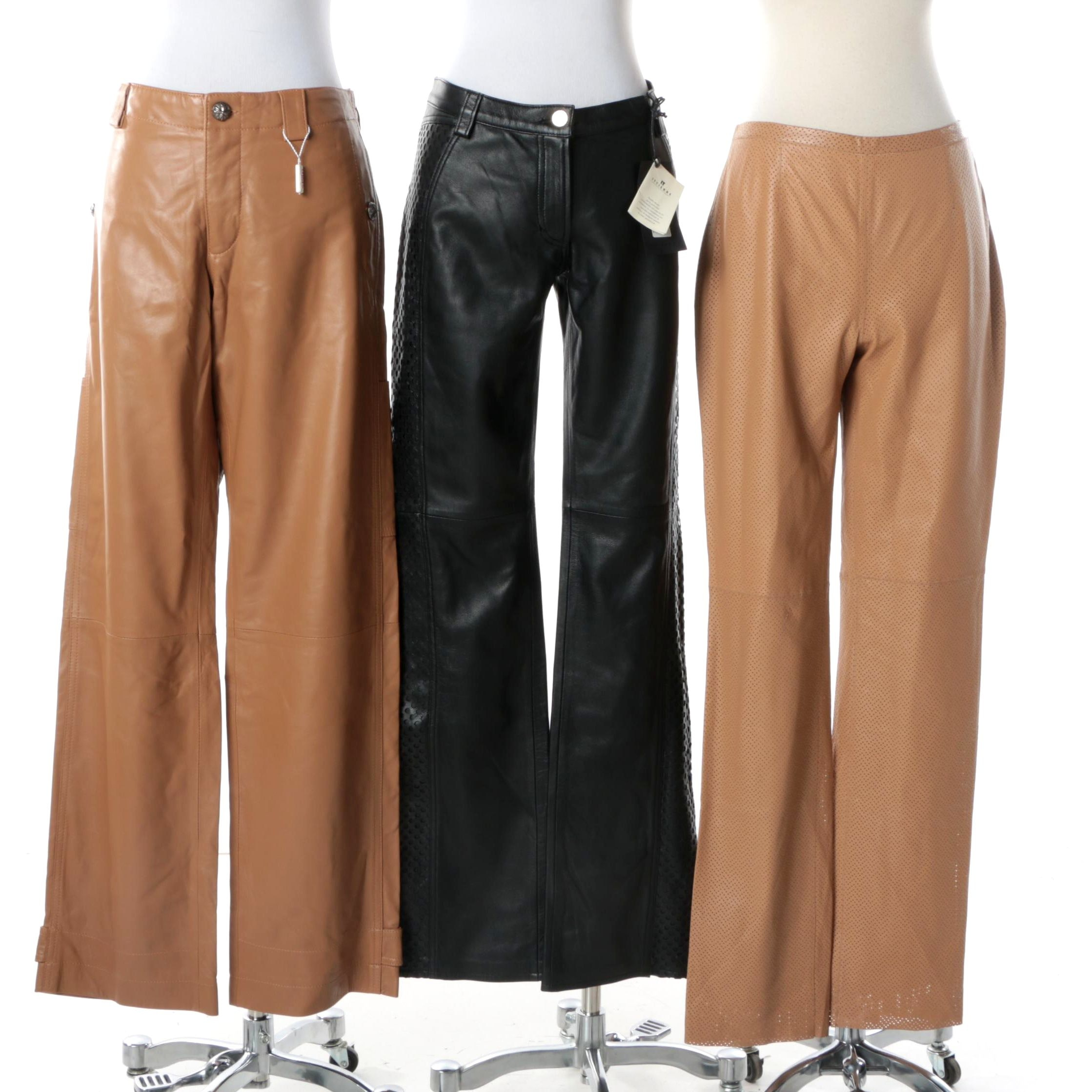 Women's Leather Pants Including Versus Versace and Armani Collezioni