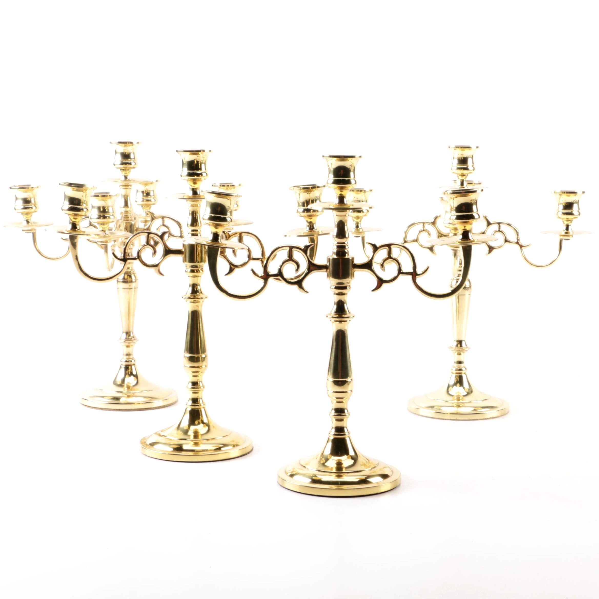 Baldwin and Colonial Trust Brass Candelabras